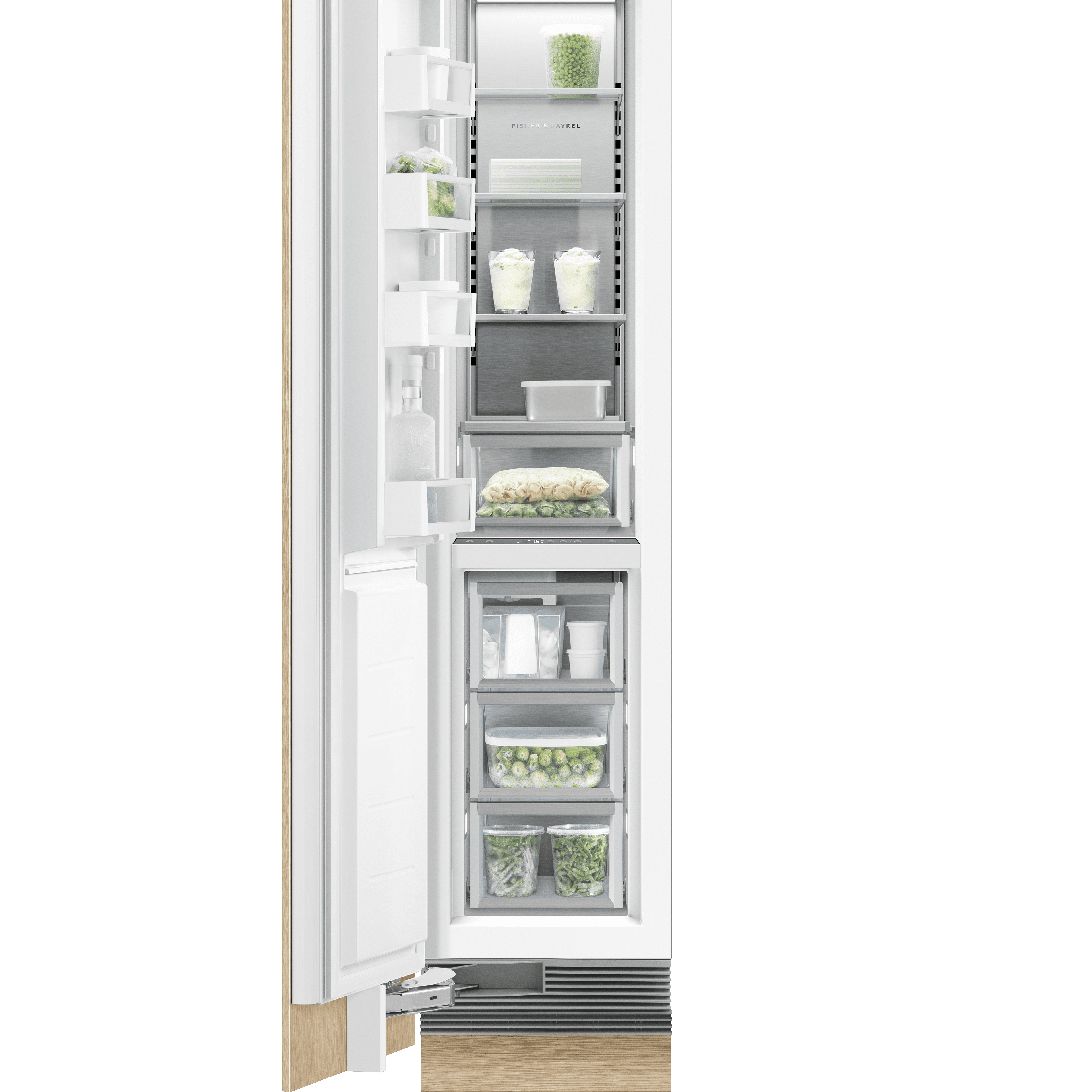 "Model: RS1884FLJK1 | Fisher and Paykel Integrated Column Freezer 18"", Stainless Steel Interior"