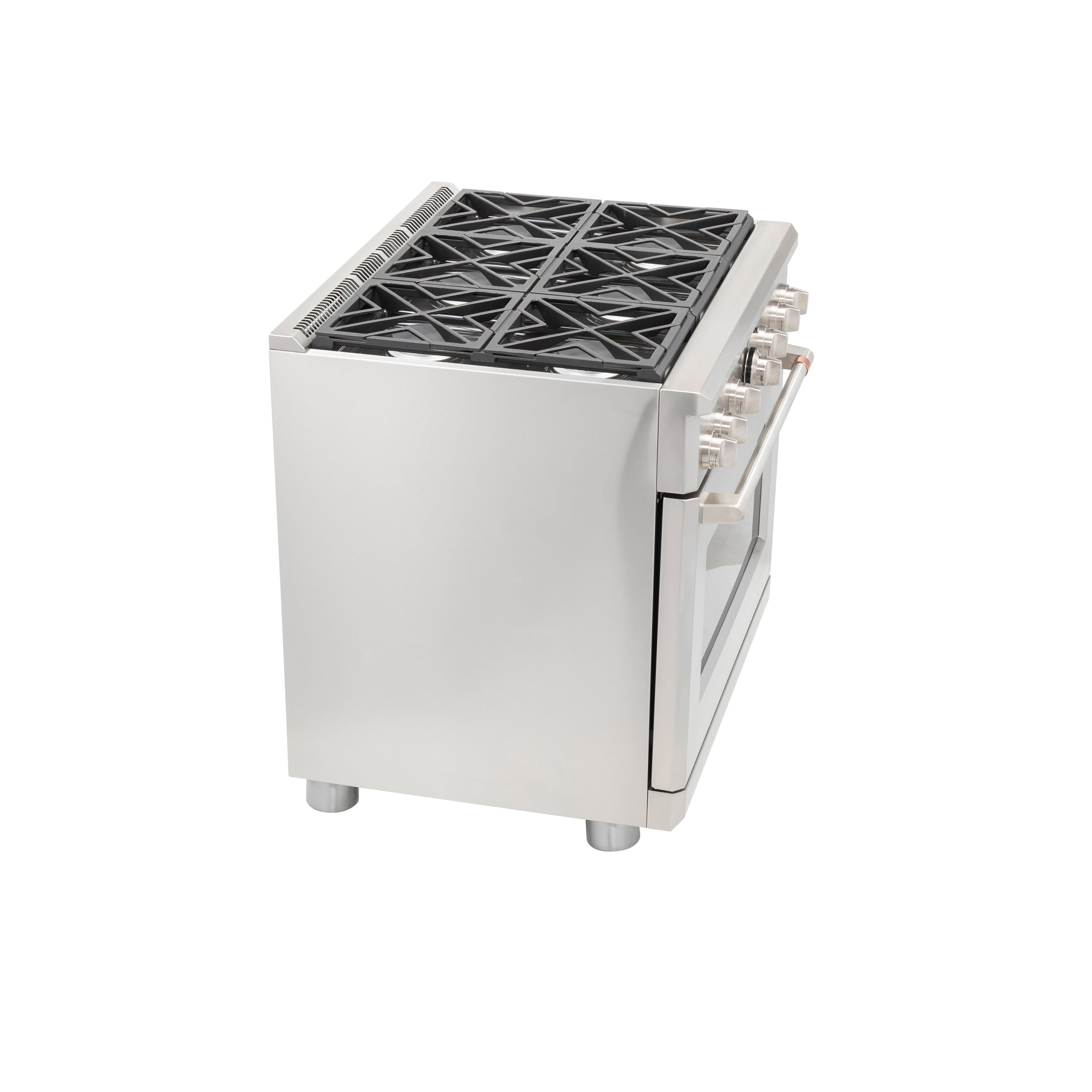 "Model: C2Y366P2MS1 | Cafe Café™ 36"" Dual-Fuel Professional Range with 6 Burners (Natural Gas)"