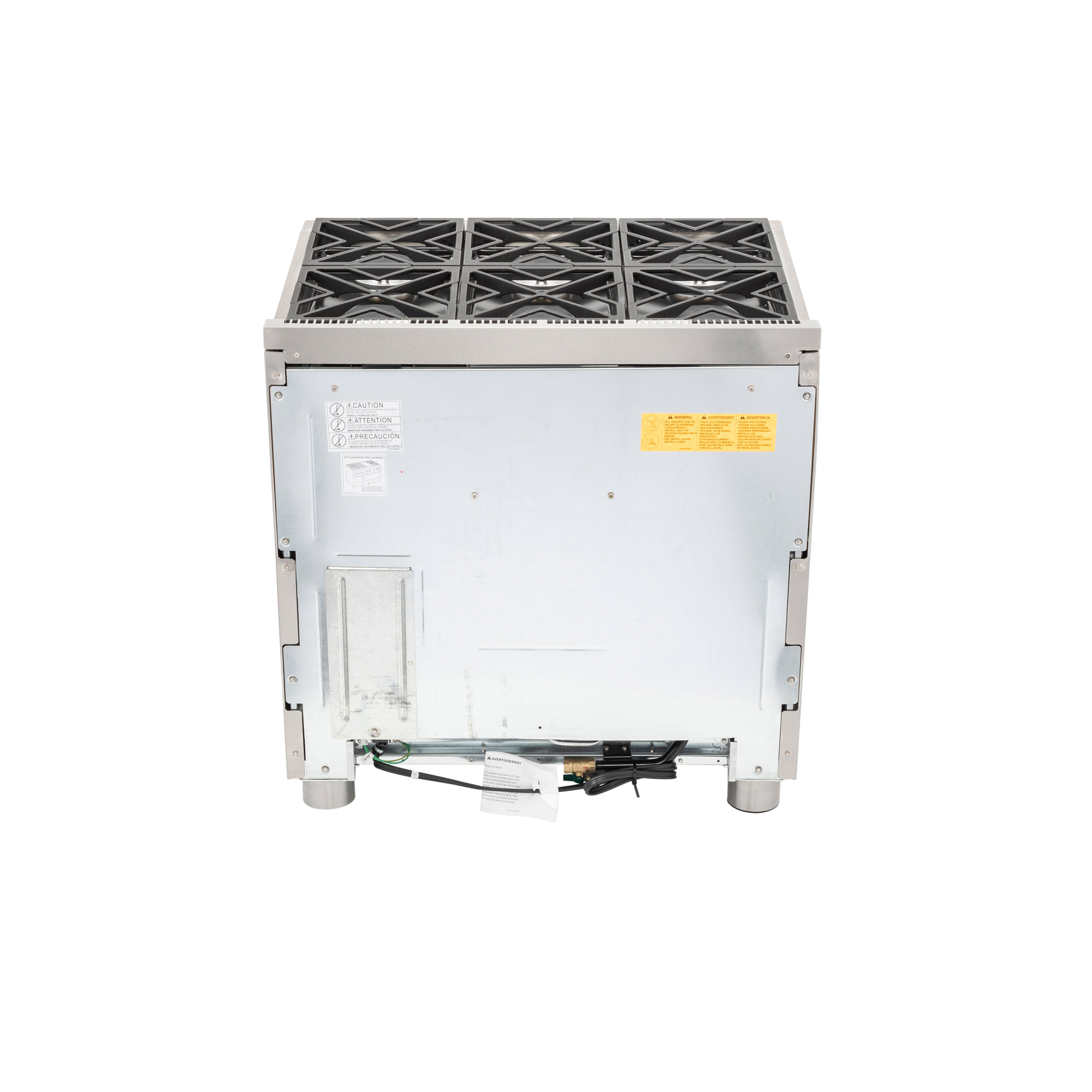 "Model: CGY366P2MS1 | Cafe Café™ 36"" All-Gas Professional Range with 6 Burners (Natural Gas)"