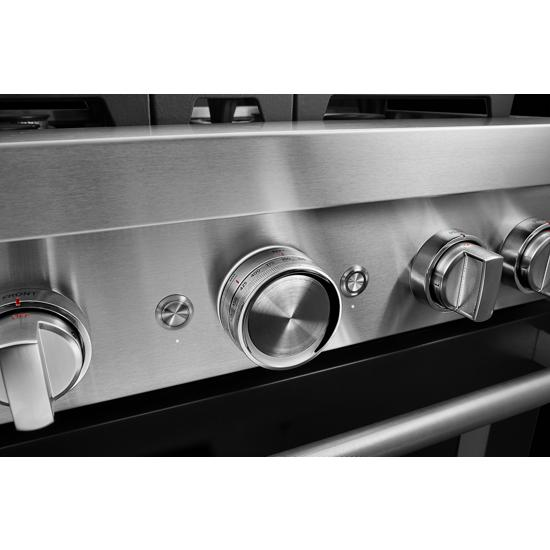 Model: KFGC500JBK | KitchenAid KitchenAid® 30'' Smart Commercial-Style Gas Range with 4 Burners
