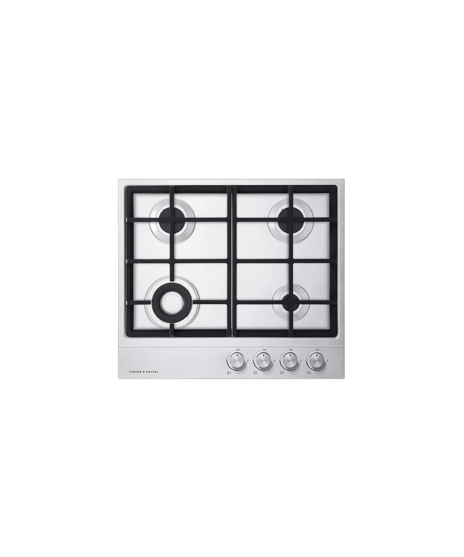 "Model: CG244DNGX1_N | Fisher and Paykel Gas on Steel Cooktop 24"" 4 Burner"