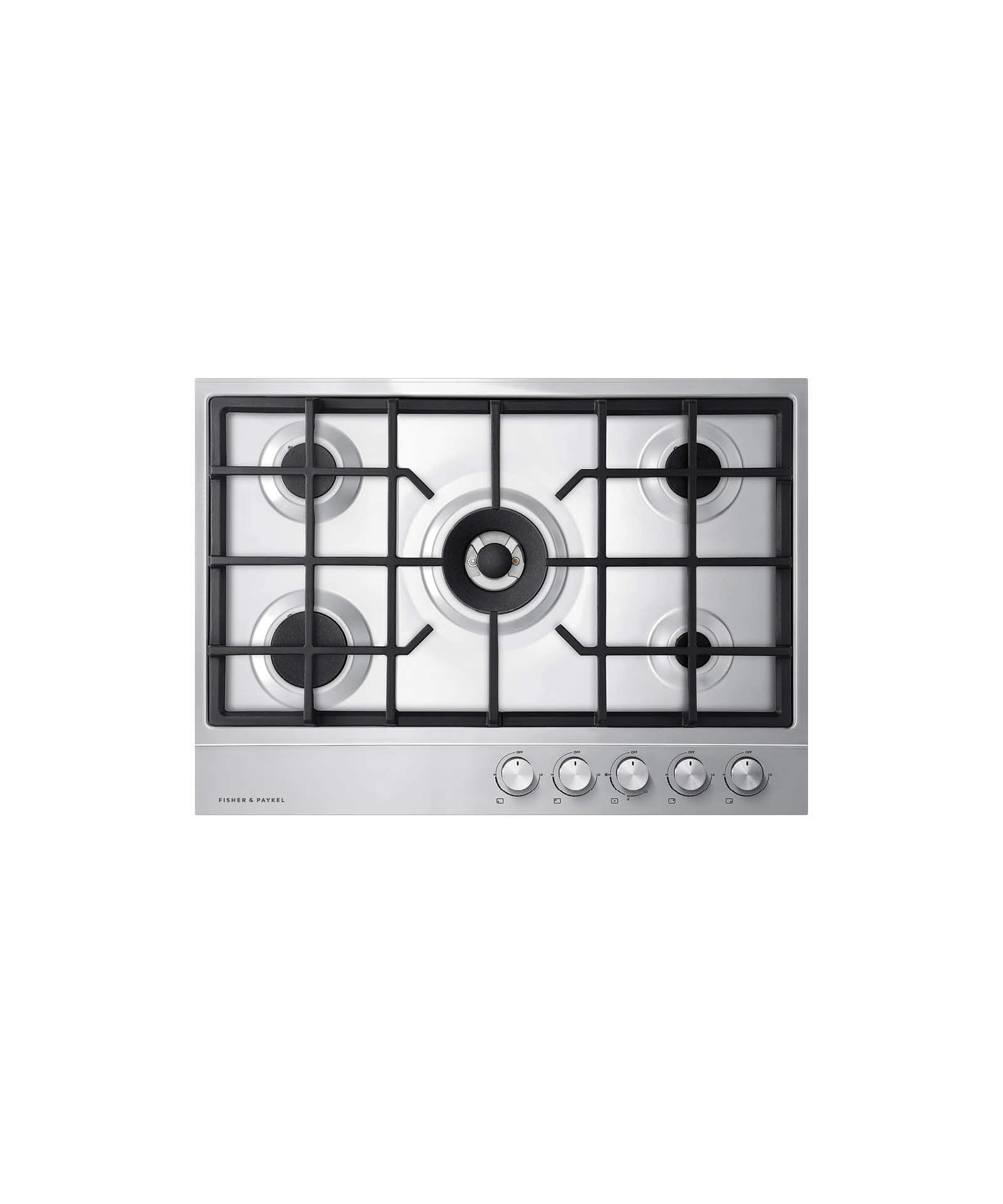 """Fisher and Paykel Gas on Steel Cooktop, 30"""" 5 Burner (LPG)"""