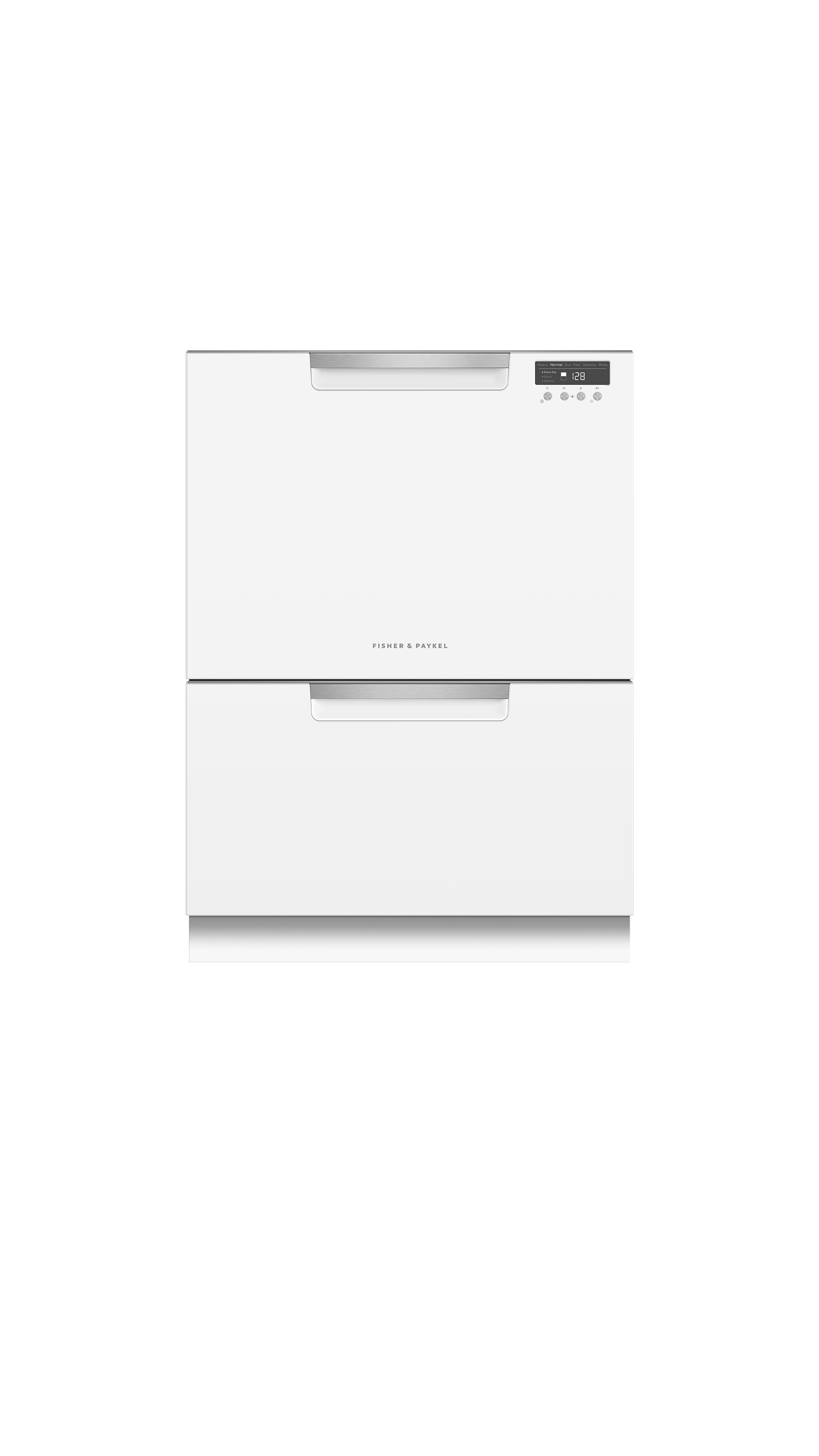 Model: DD24DCTW9_N | Fisher and Paykel Double DishDrawer™, 14 Place Settings, Sanitize (Tall)