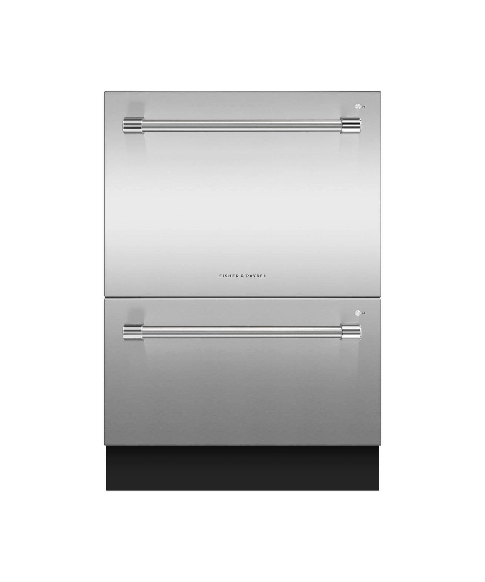 "Model: DD24DV2T9_N | Fisher and Paykel 24"" Double DishDrawer™ Dishwasher, 14 Place Settings, Sanitize (Tall)"
