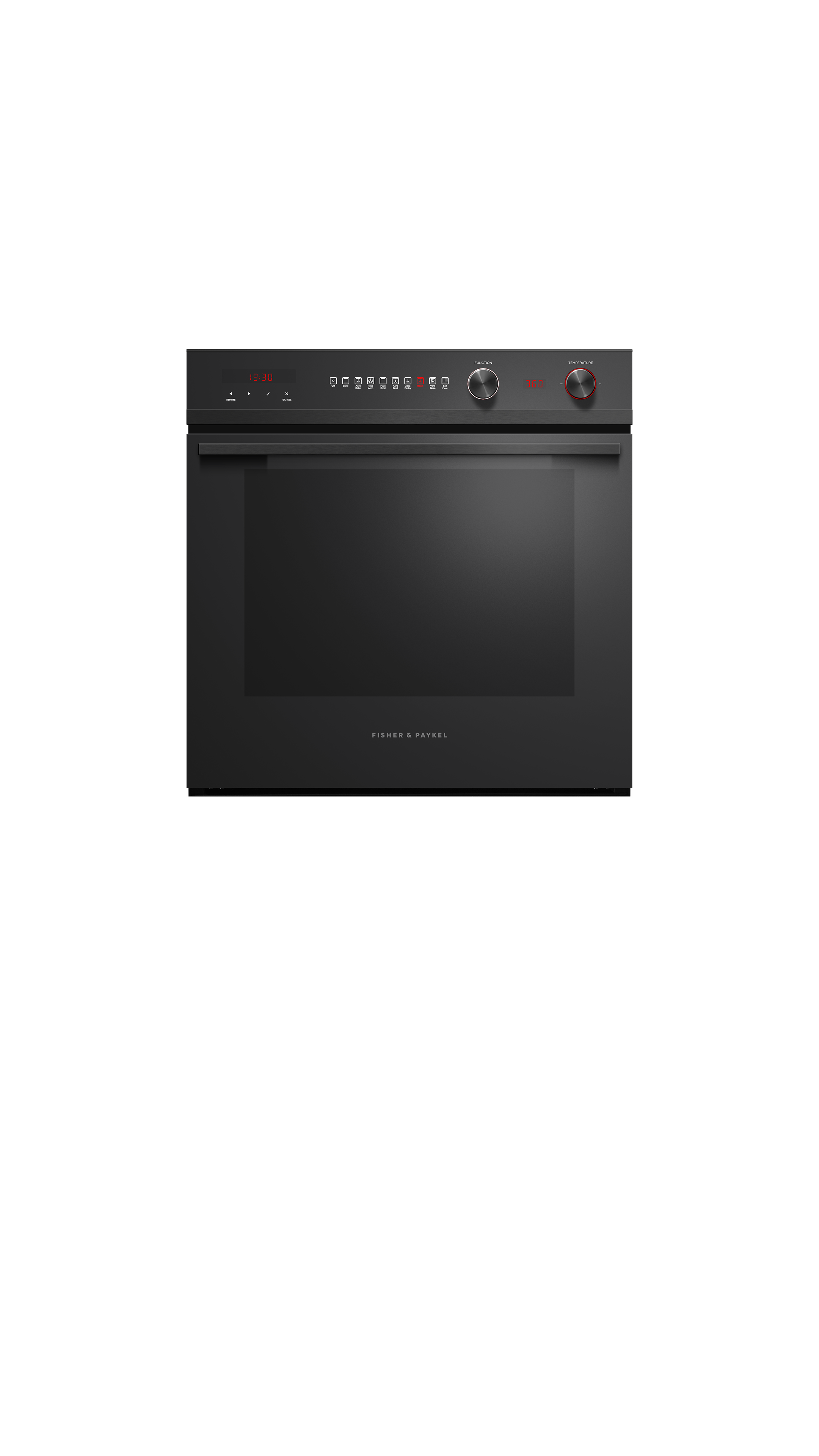 "Model: OB24SCD9PB1 | Fisher and Paykel Built-in Oven, 24"" 3 cu ft, 9 Function, Self-cleaning"