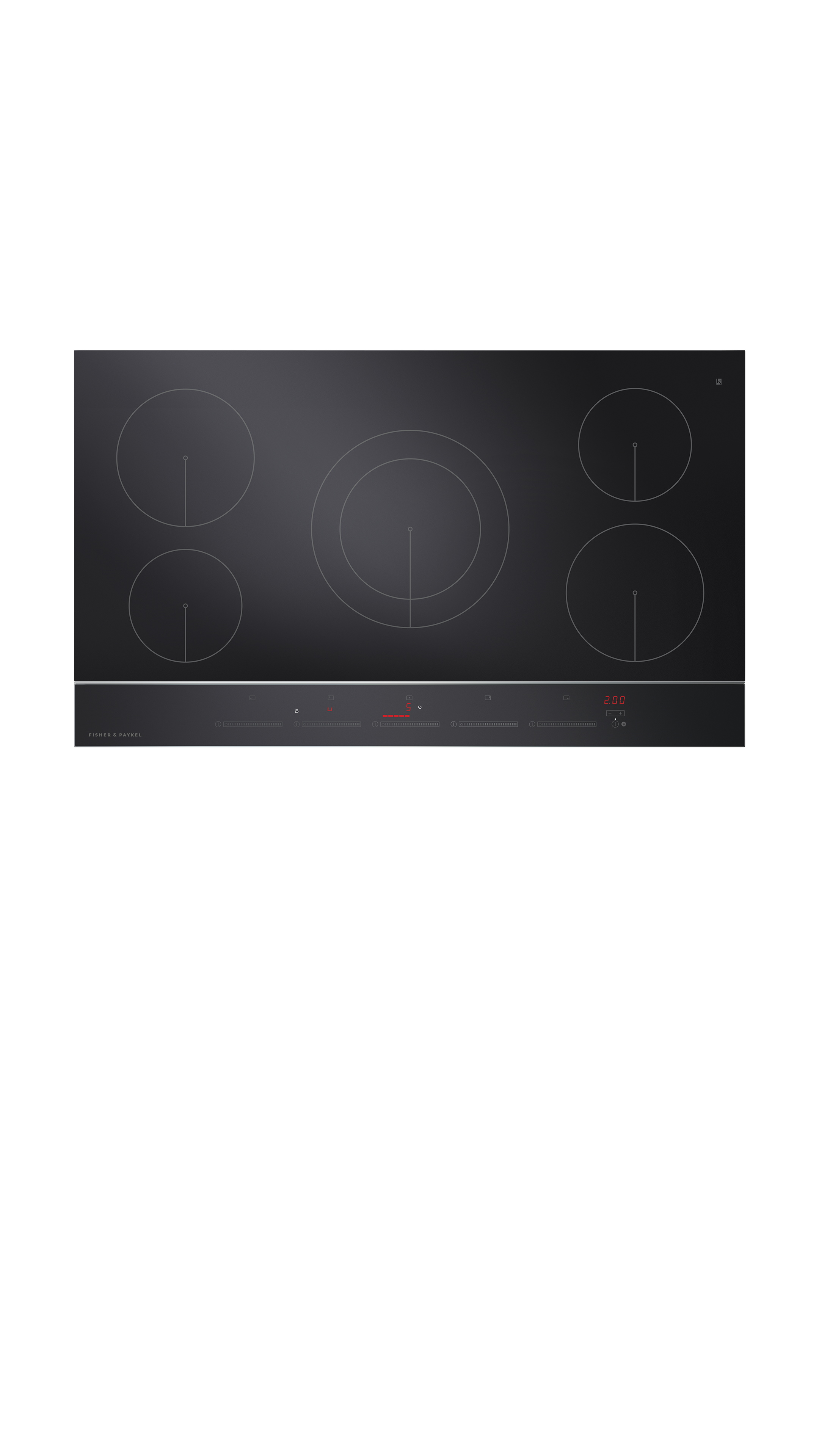 """Model: CI365DTB2_N   Fisher and Paykel Induction Cooktop 36"""" 5 Zone"""