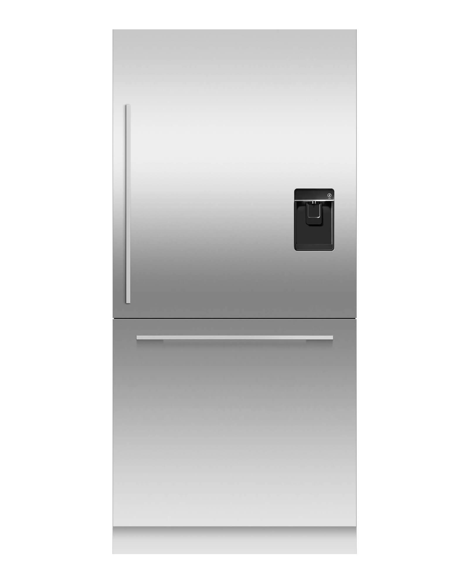 """Fisher and Paykel Integrated Refrigerator Freezer, 36"""", 16.8cu ft, Panel Ready, Ice & Water"""