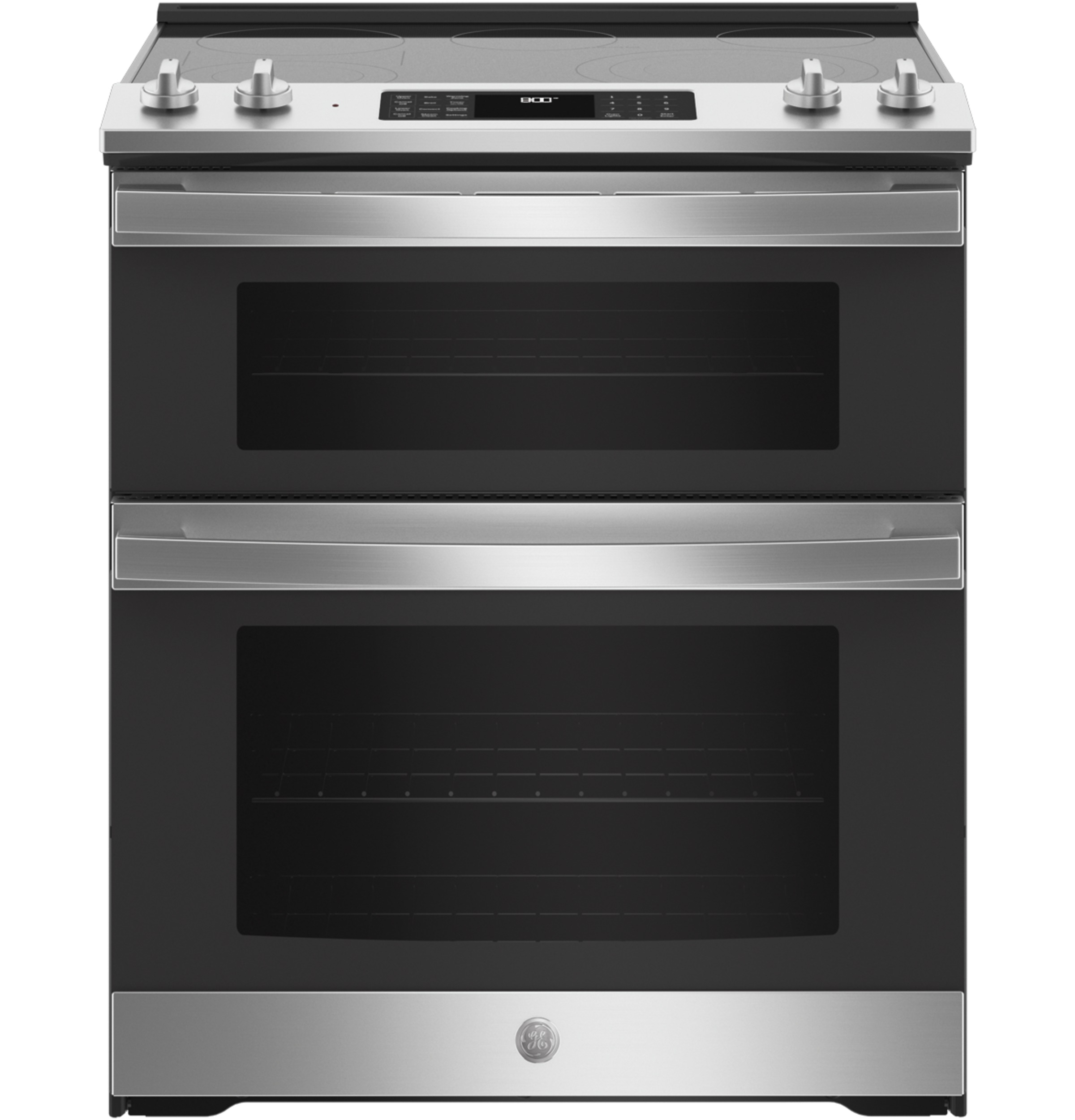 """GE GE® 30"""" Slide-In Electric Convection Double Oven Range"""