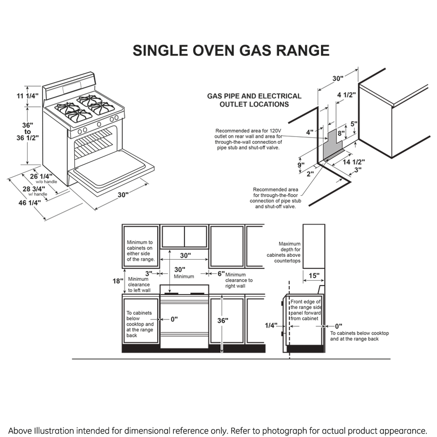 "Model: JGB660SPSS   GE GE® 30"" Free-Standing Gas Range"