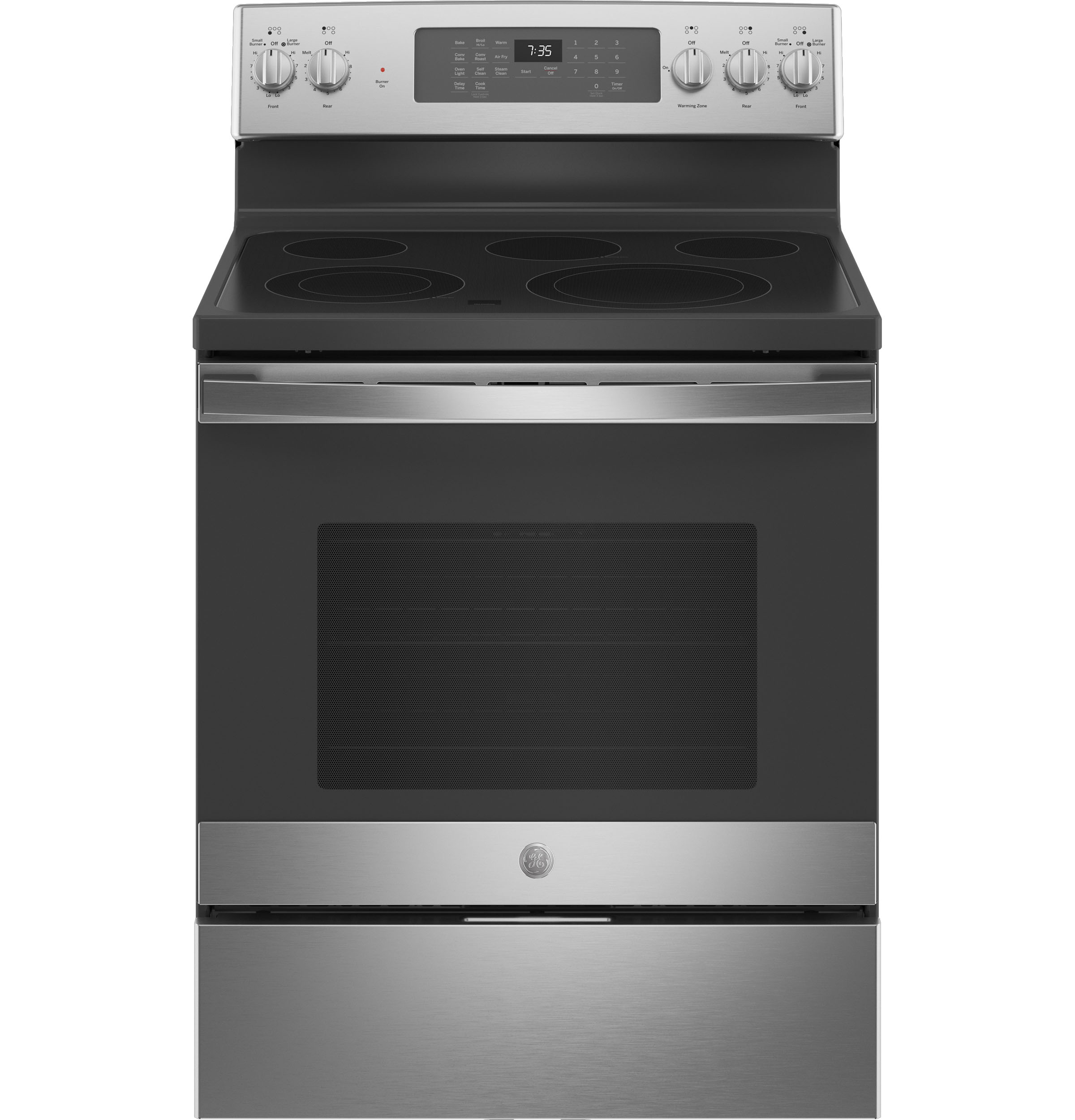 "GE GE® 30"" Free-Standing Electric Convection Range with No Preheat Air Fry"