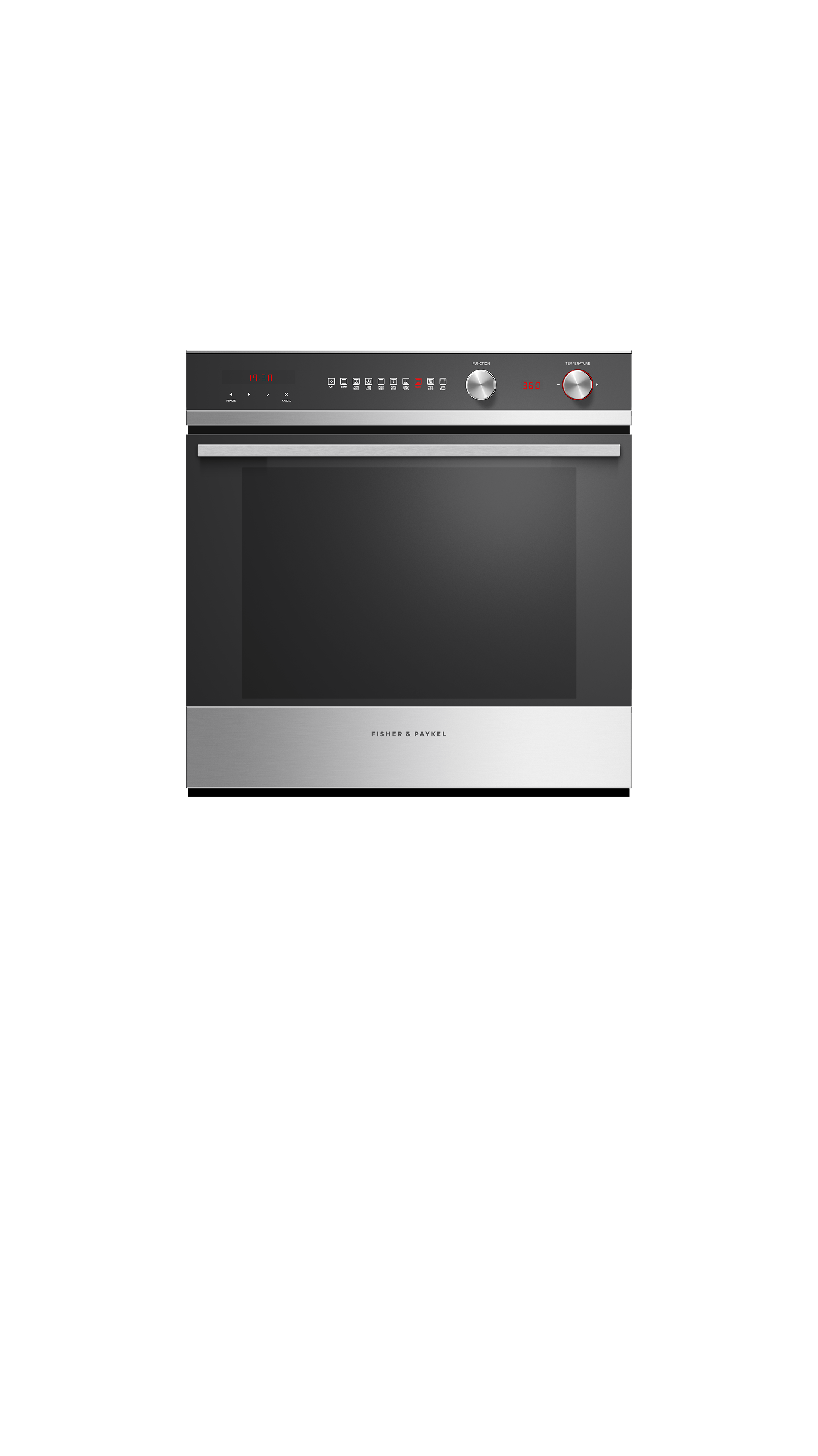 """Model: OB24SCD9PX1   Fisher and Paykel Built-in Oven, 24"""", 3 cu ft, 9 Function, Self-cleaning"""