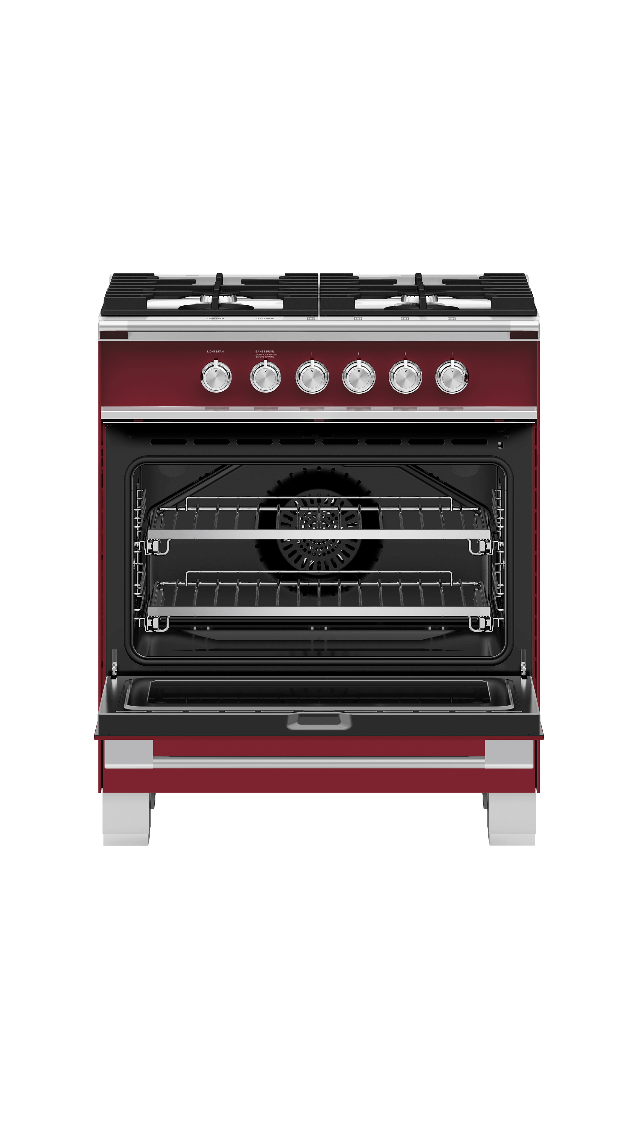 """Model: OR30SCG4R1   Fisher and Paykel Gas Range, 30"""""""