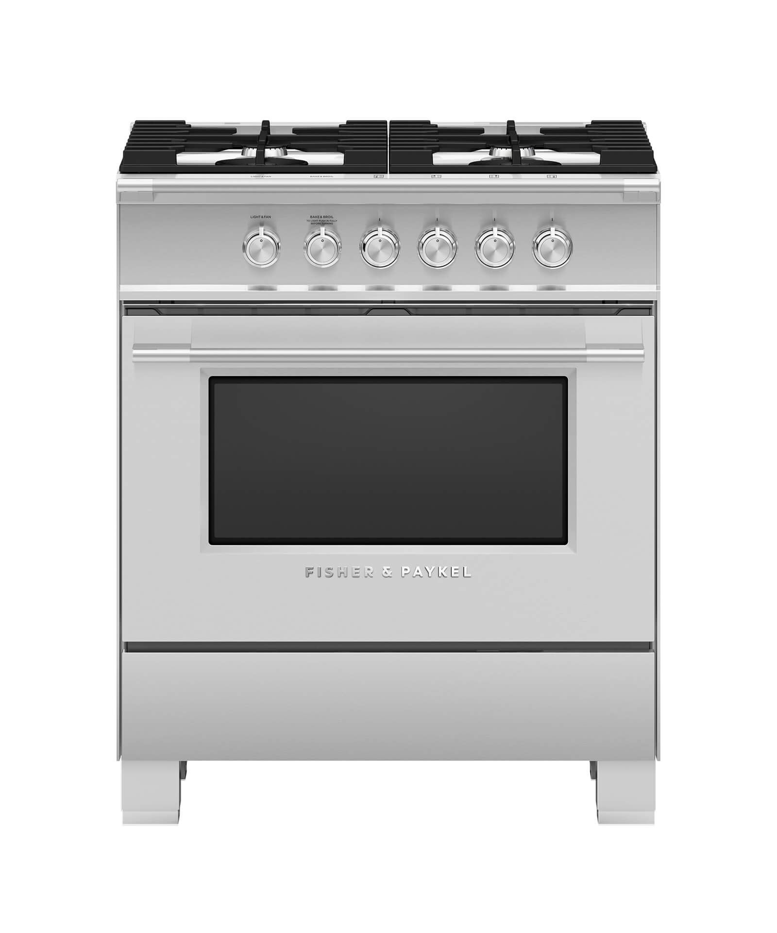 Fisher and Paykel Gas Range, 30""