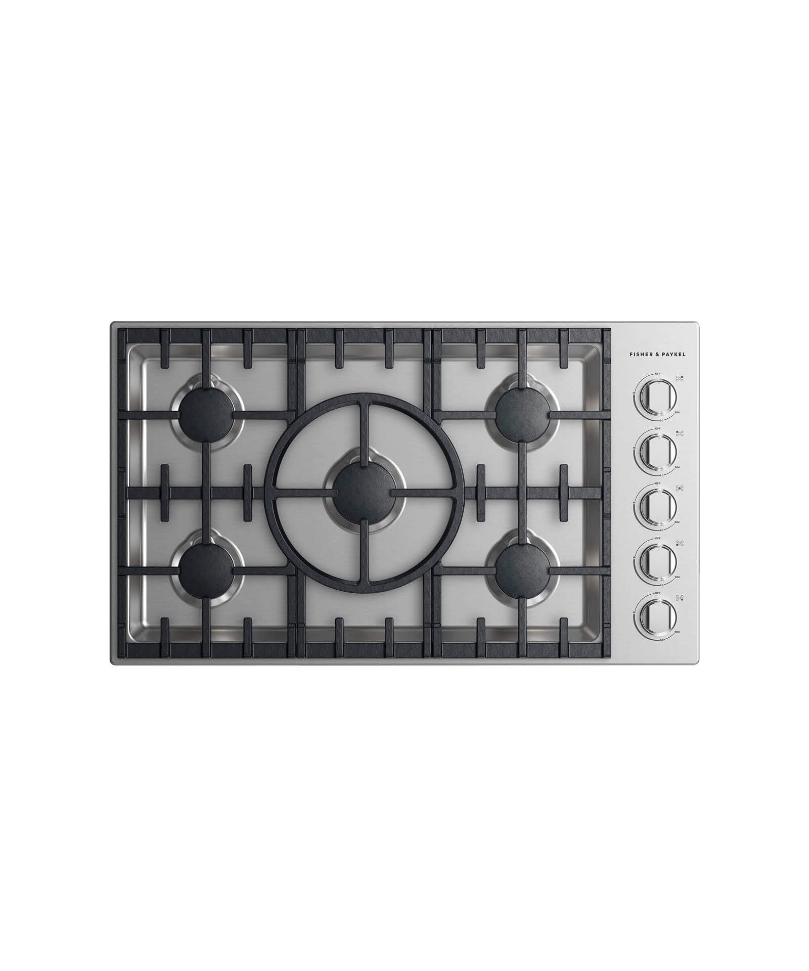 "Fisher and Paykel Gas Cooktop, 36"", 5 burner"