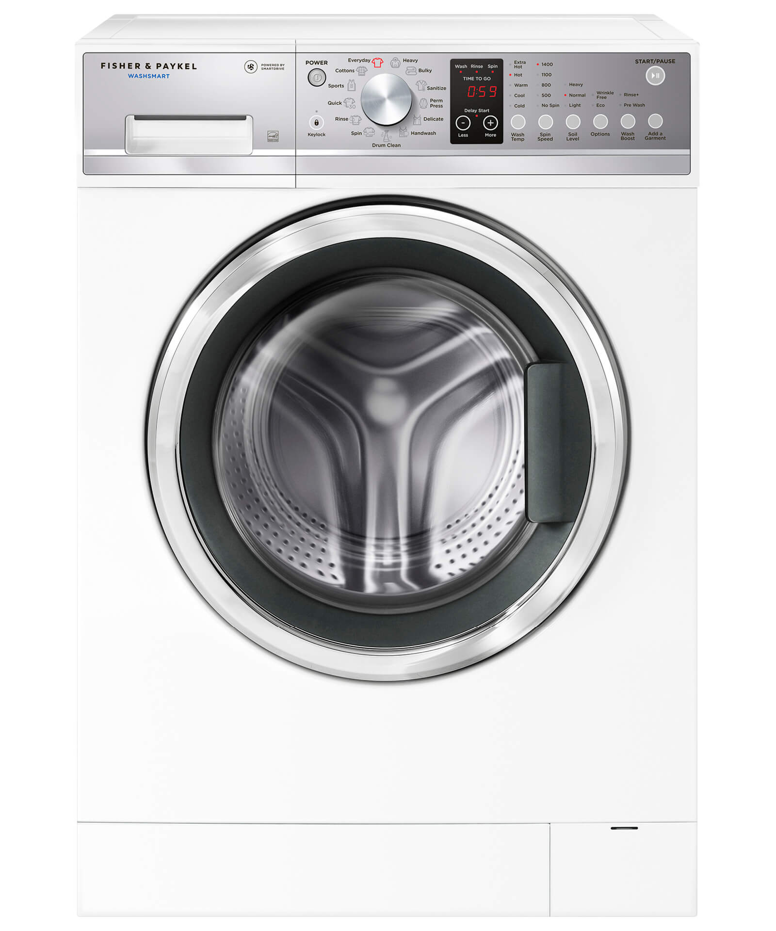 Fisher and Paykel WashSmart™ Front Load Washer, 2.4 cu ft, SmartDrive™
