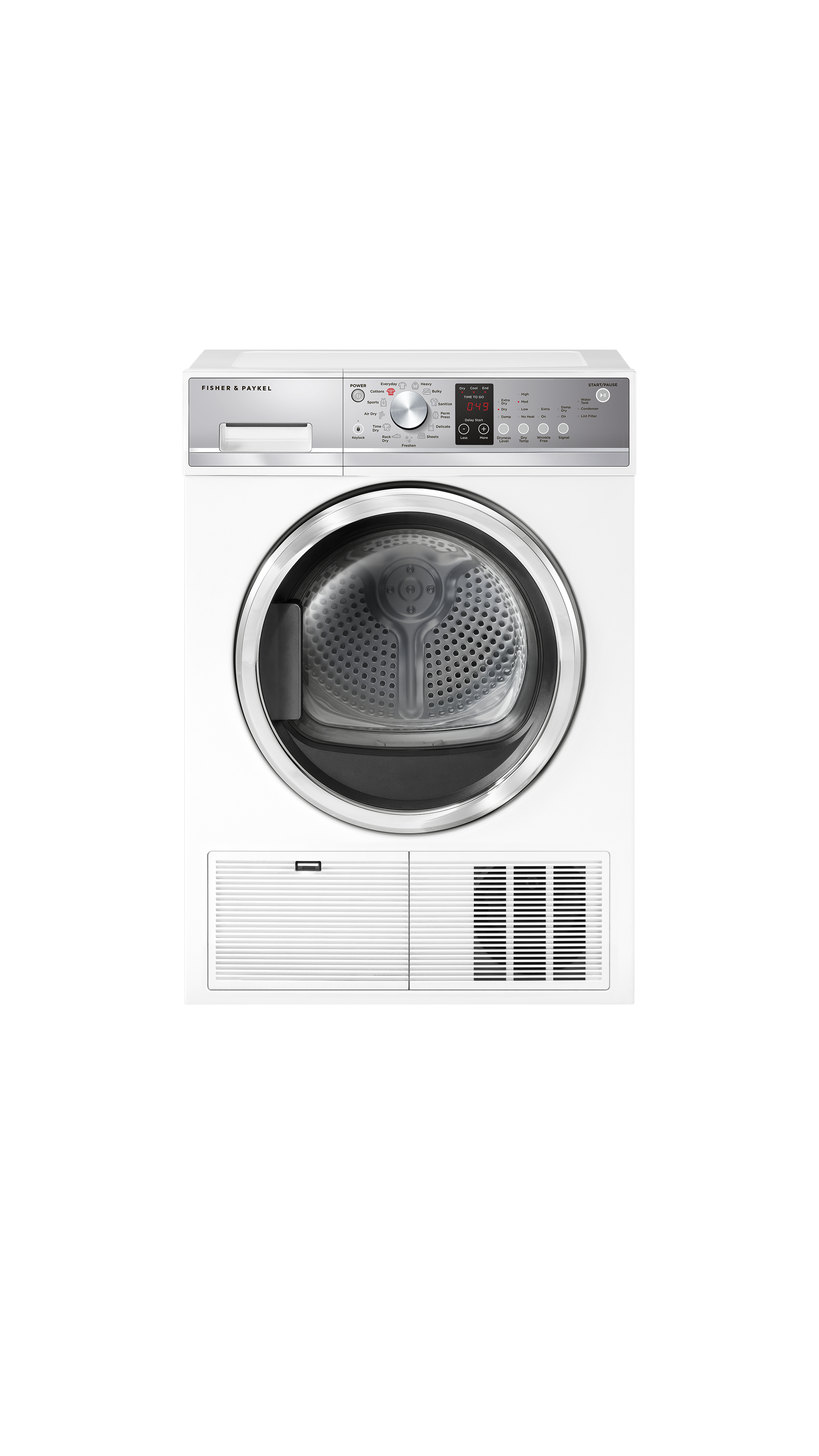 Model: DE4024P1 | Fisher and Paykel Condensing dryer, 4.0 cu ft, Autosensing