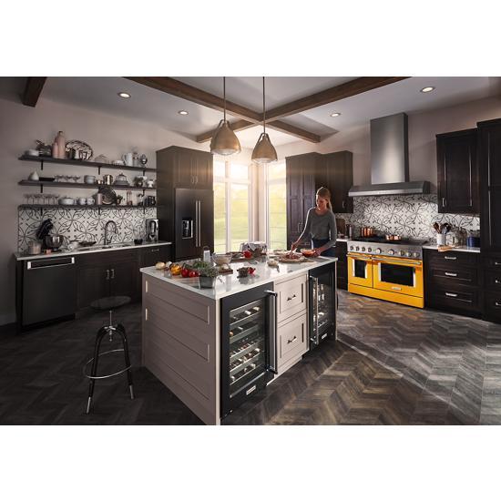 "Model: KUBR304EBS   KitchenAid 24"" Stainless Steel Beverage Center with SatinGlide® Metal-Front Racks"