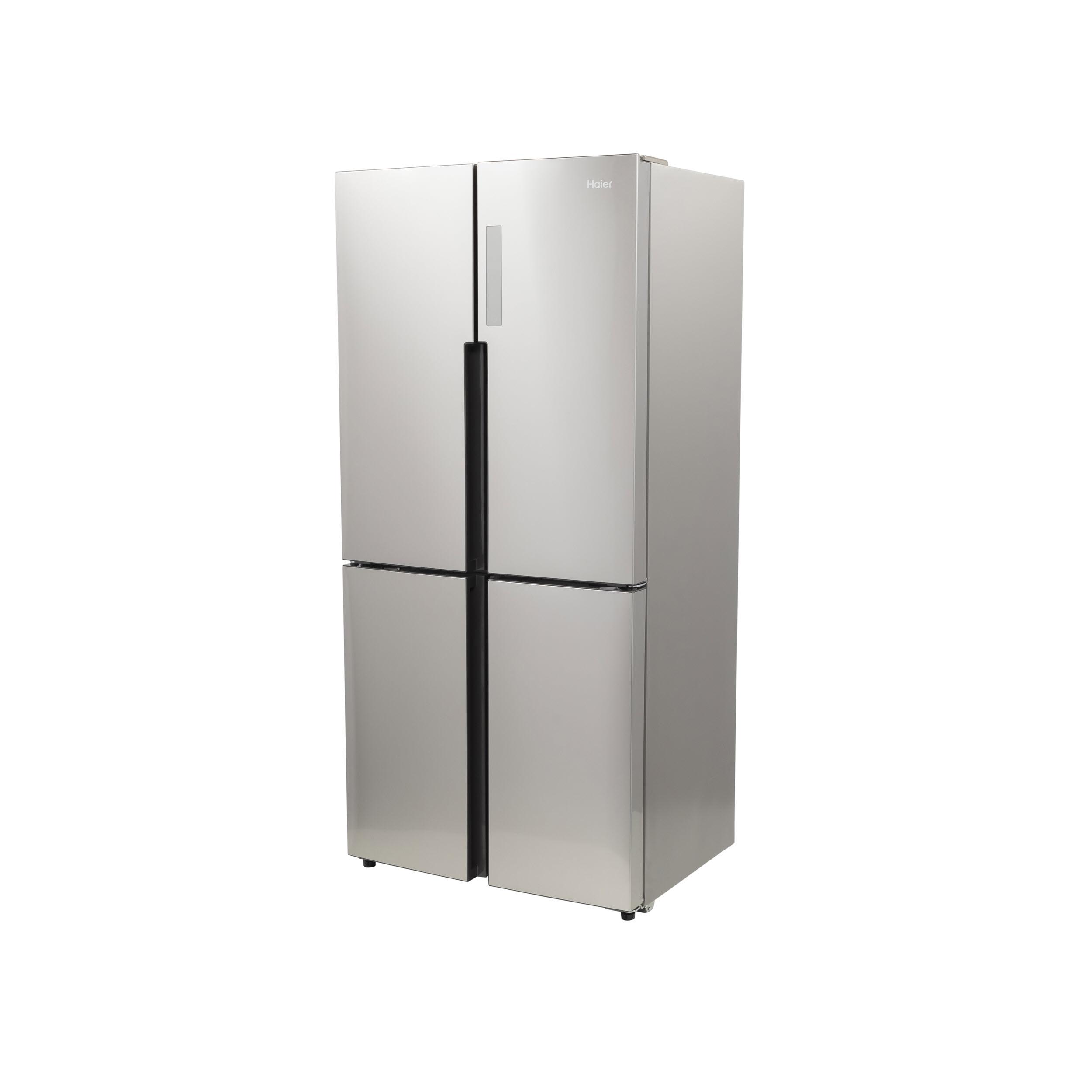 Model: HRQ16N3BGS | Haier 16.4 Cu. Ft. Quad Door Refrigerator