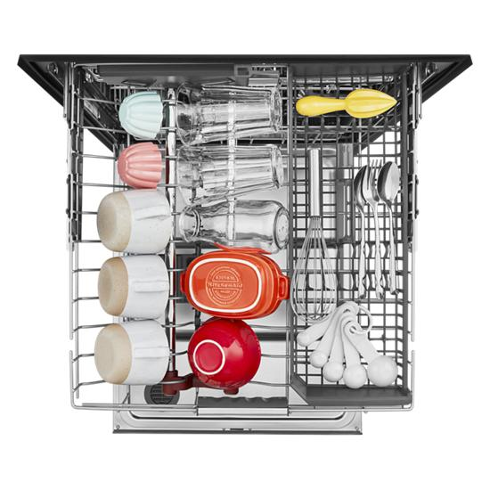 Model: KDPM804KBS | KitchenAid 44 dBA Dishwasher with FreeFlex™ Third Rack and LED Interior Lighting