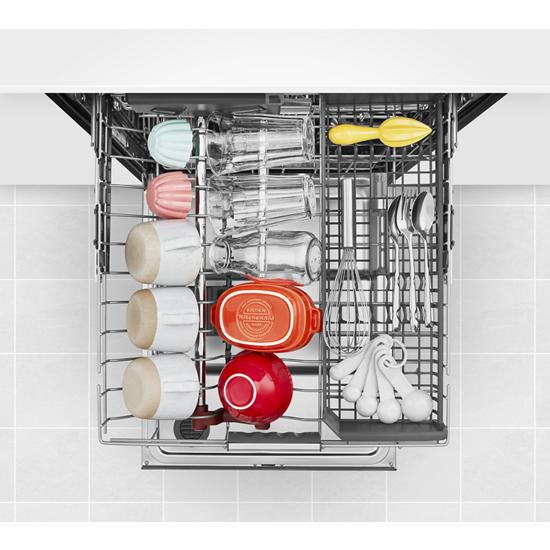 Model: KDPM804KPS | KitchenAid 44 dBA Dishwasher with FreeFlex™ Third Rack and LED Interior Lighting
