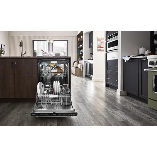 Model: KDTM804KBS | KitchenAid 44 dBA Dishwasher with FreeFlex™ Third Rack and LED Interior Lighting