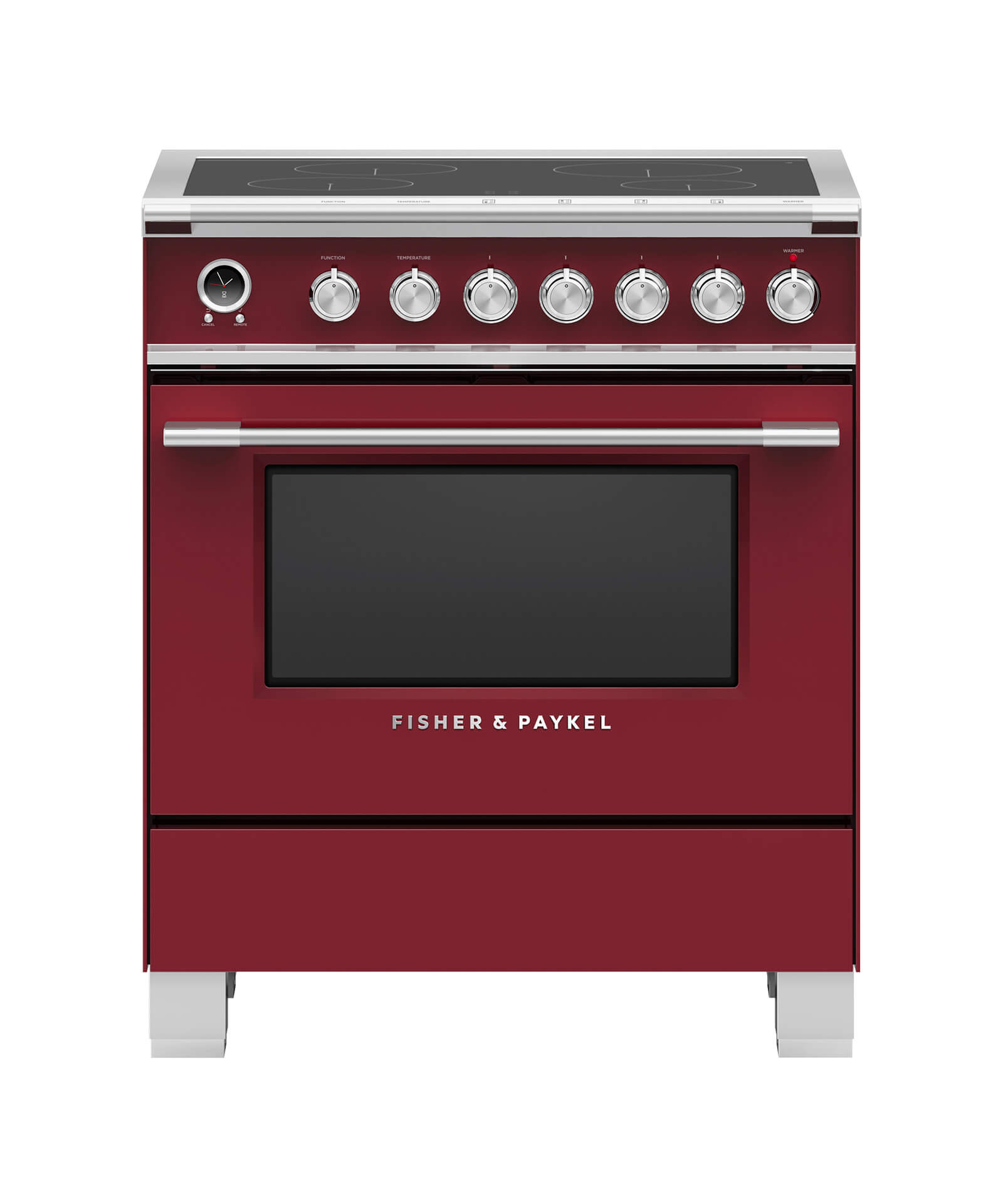 """Fisher and Paykel Induction Range, 30"""", 4 Zones, Self-cleaning"""