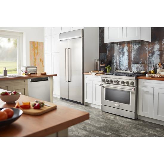 Model: KBSN602ESS   KitchenAid 25.5 cu. ft 42-Inch Width Built-In Side by Side Refrigerator with PrintShield™ Finish