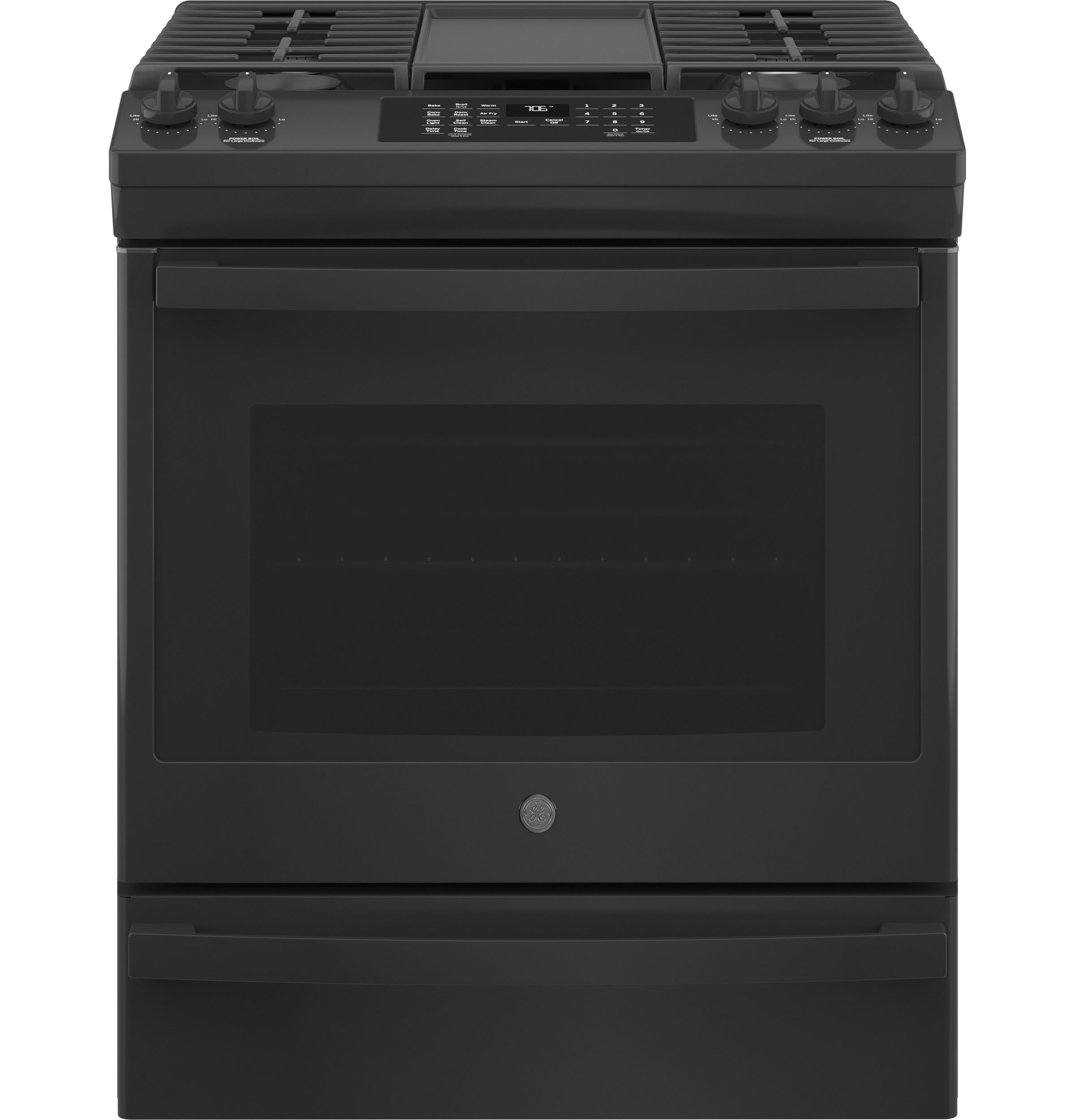 """GE GE® 30"""" Slide-In Front-Control Convection Gas Range with No Preheat Air Fry"""