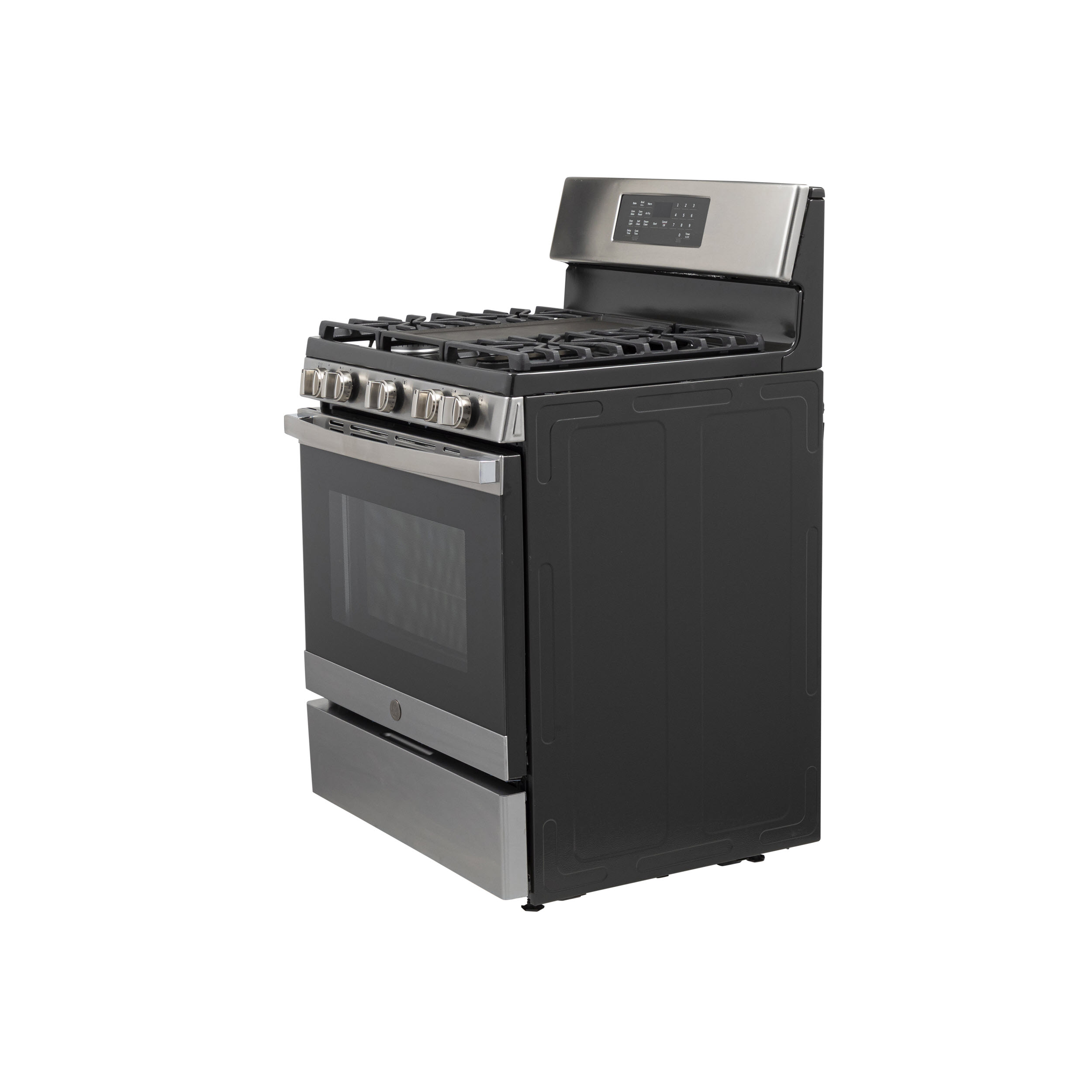 "Model: JGB735SPSS | GE GE® 30"" Free-Standing Gas Convection Range with No Preheat Air Fry"
