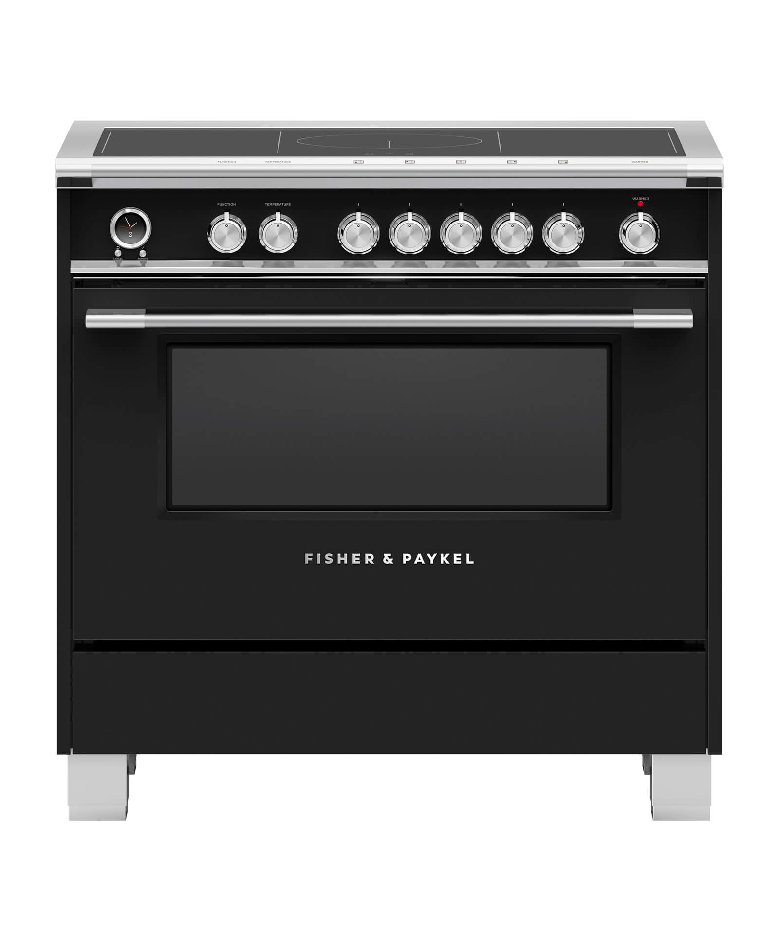"""Fisher and Paykel Induction Range, 36"""", 5 Zones, Self-cleaning"""