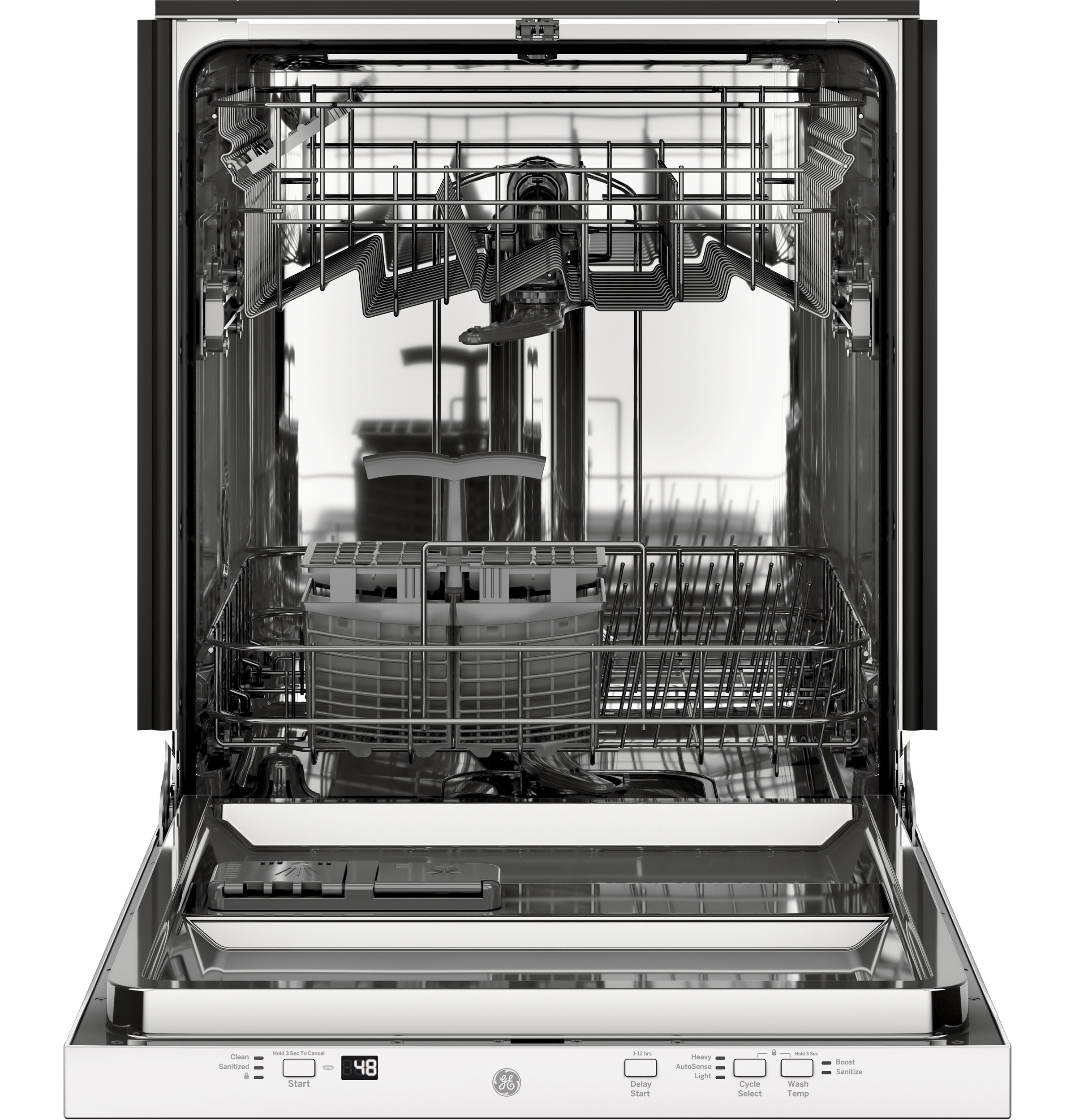Model: GDT226SGLWW | GE GE® ADA Compliant Stainless Steel Interior Dishwasher with Sanitize Cycle