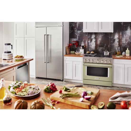 Model: KBSN602ESS | KitchenAid 25.5 cu. ft 42-Inch Width Built-In Side by Side Refrigerator with PrintShield™ Finish