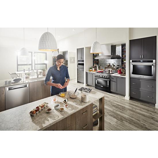 Model: KDPM704KPS | KitchenAid 44 dBA Dishwasher with FreeFlex™ Third Rack and LED Interior Lighting