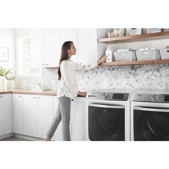 Model: MED8630HW | Maytag Smart Front Load Electric Dryer with Extra Power and Advanced Moisture Sensing Plus - 7.3 cu. ft.