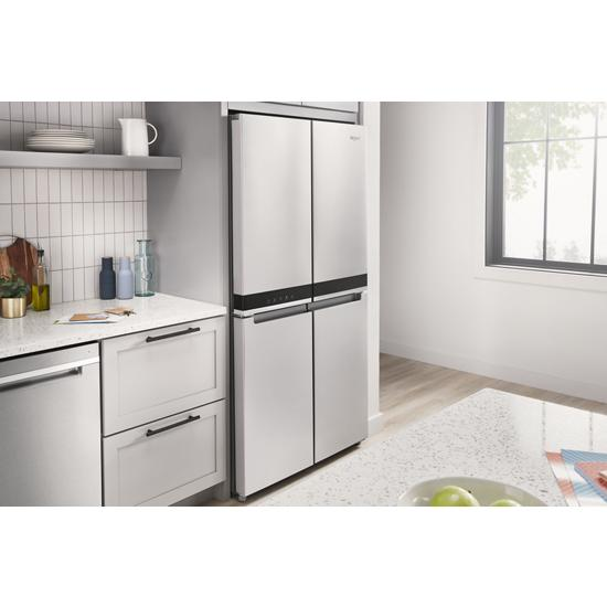 Model: WRQA59CNKZ | Whirlpool 36-inch Wide Counter Depth 4 Door Refrigerator - 19.4 cu. ft.