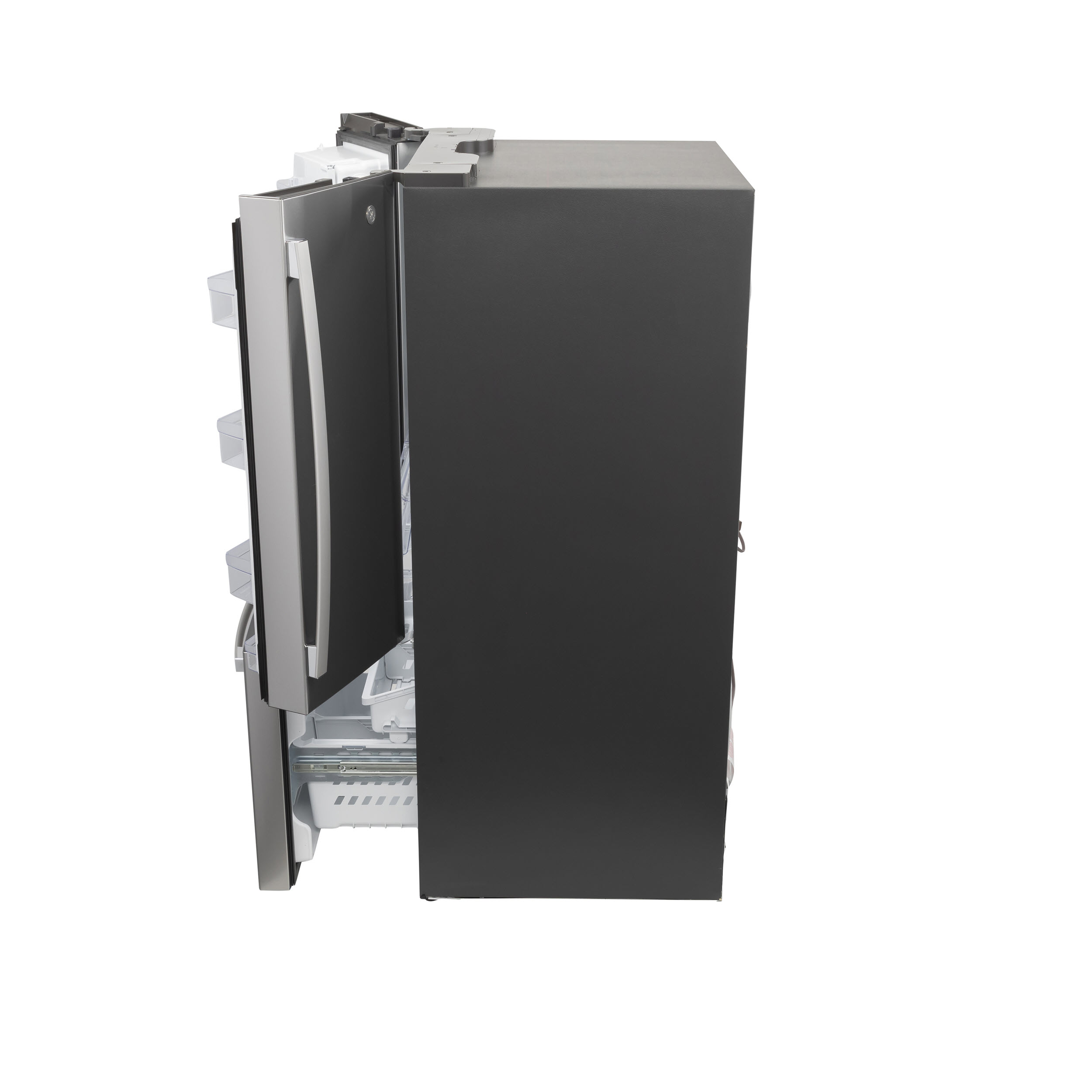 Model: GFE26JYMFS | GE GE® ENERGY STAR® 25.6 Cu. Ft. Fingerprint Resistant French-Door Refrigerator