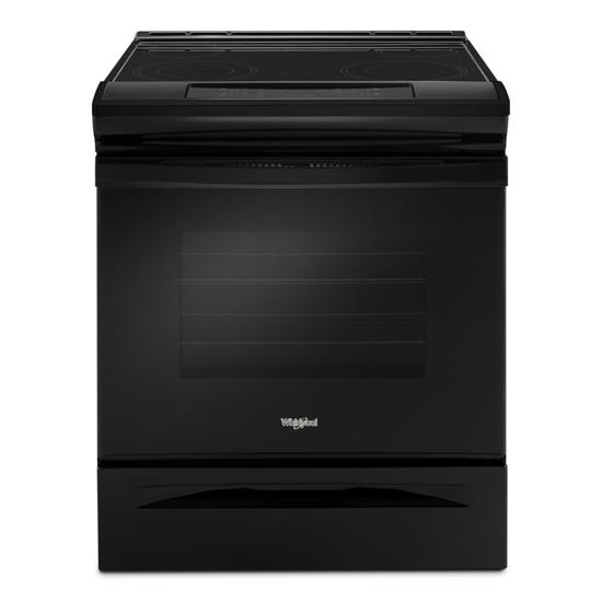 Model: WEE510S0FB | Whirlpool 4.8 cu. ft. Guided Electric Front Control Range With The Easy-Wipe Ceramic Glass Cooktop