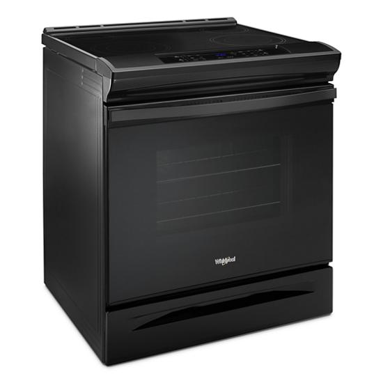 Model: WEE510SAGB | Whirlpool 4.8 cu. ft. Guided Electric Front Control Range With The Easy-Wipe Ceramic Glass Cooktop