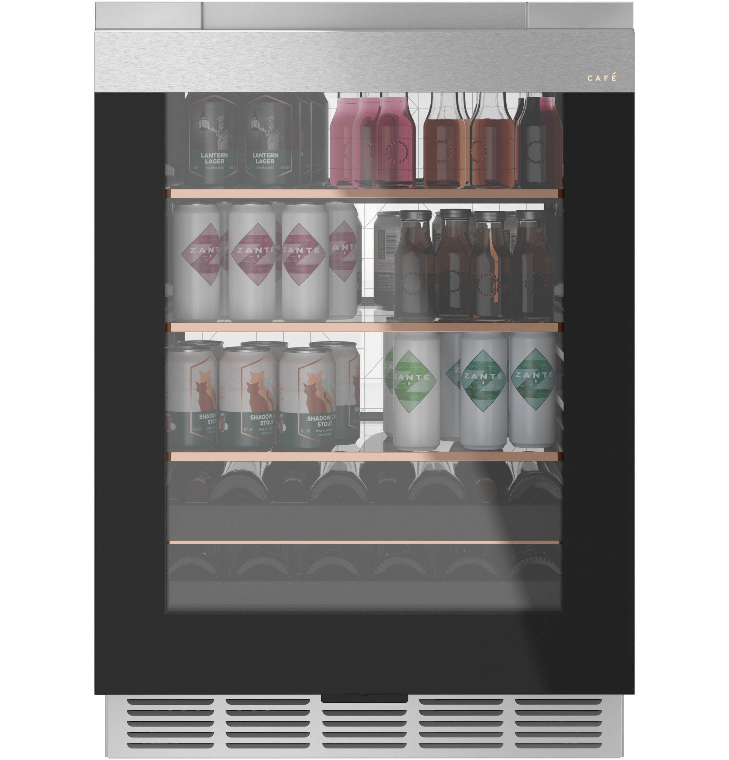 Cafe Café™ Beverage Center in Platinum Glass