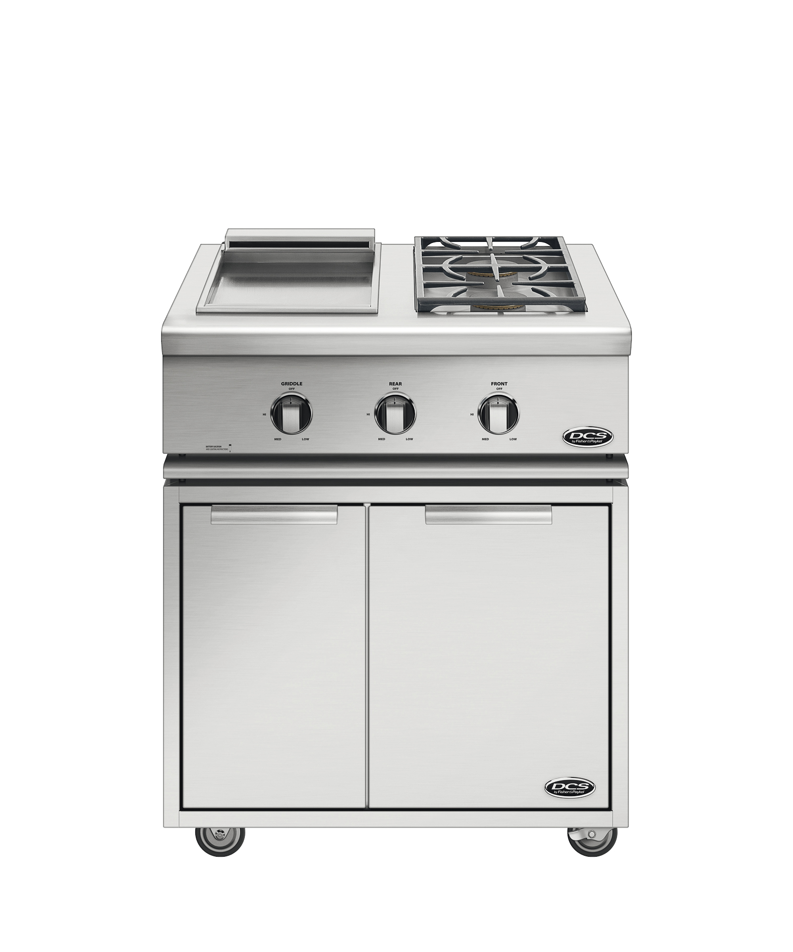 "DCS DISPLAY MODEL--30"" Series 7 Double Side Burner/ Griddle, Natural Gas"