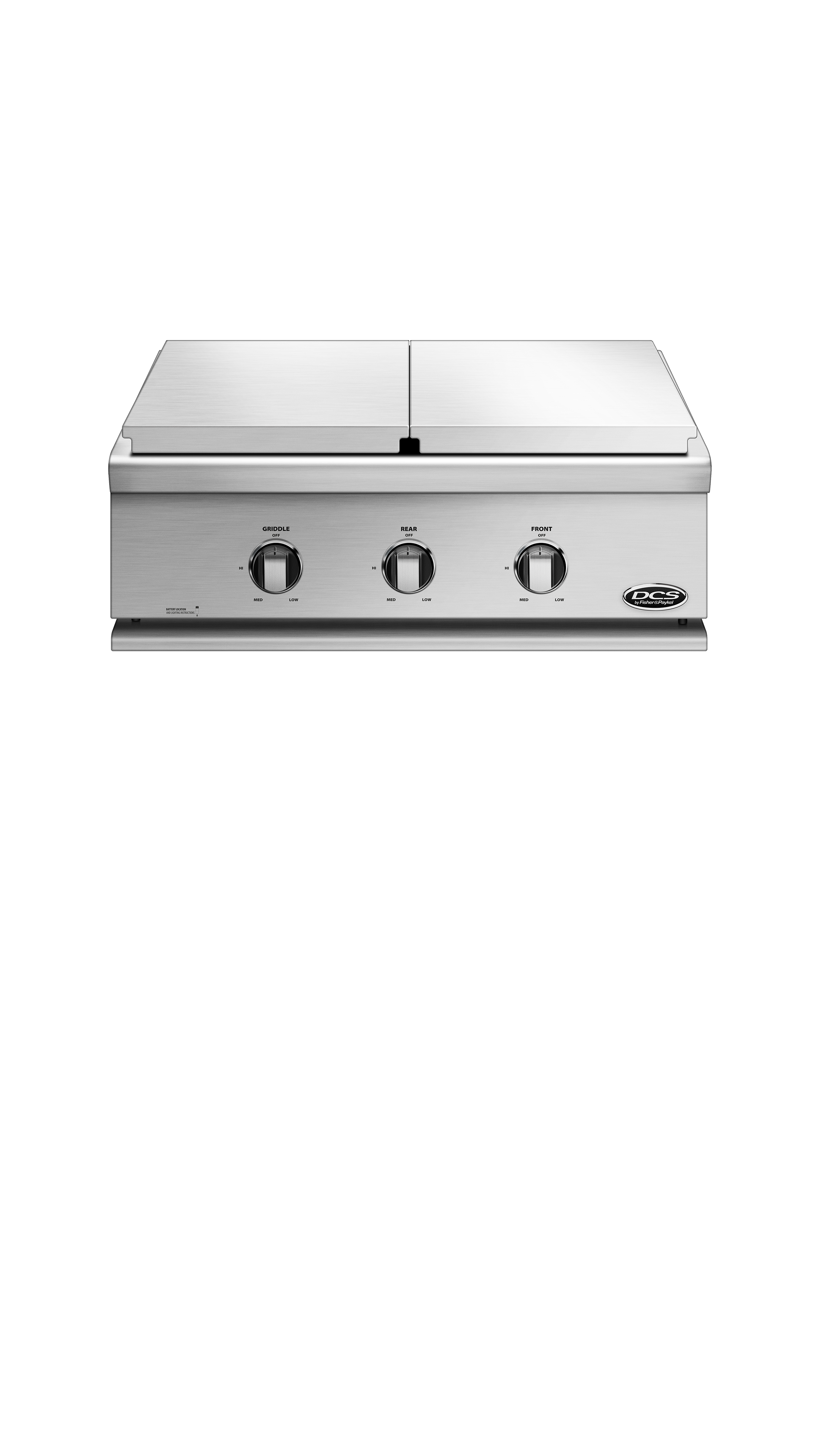 "Model: BFGC-30BGD-N | DCS 30"" Series 7 Double Side Burner/ Griddle, Natural Gas"