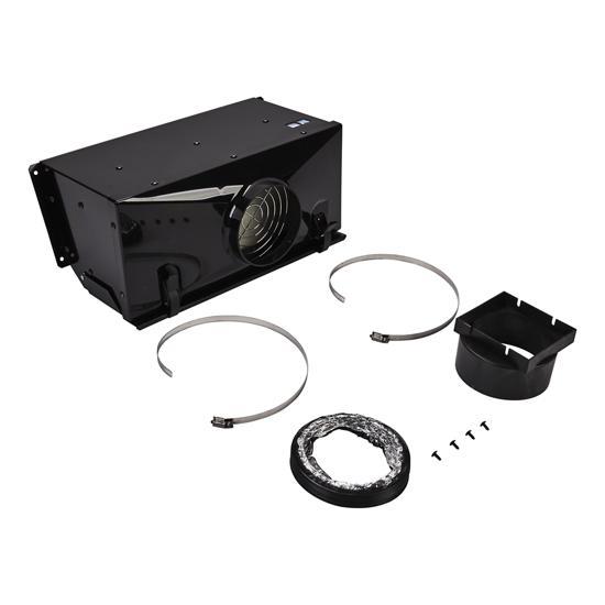 Unbranded Range Ductless Downdraft Vent Kit, Black