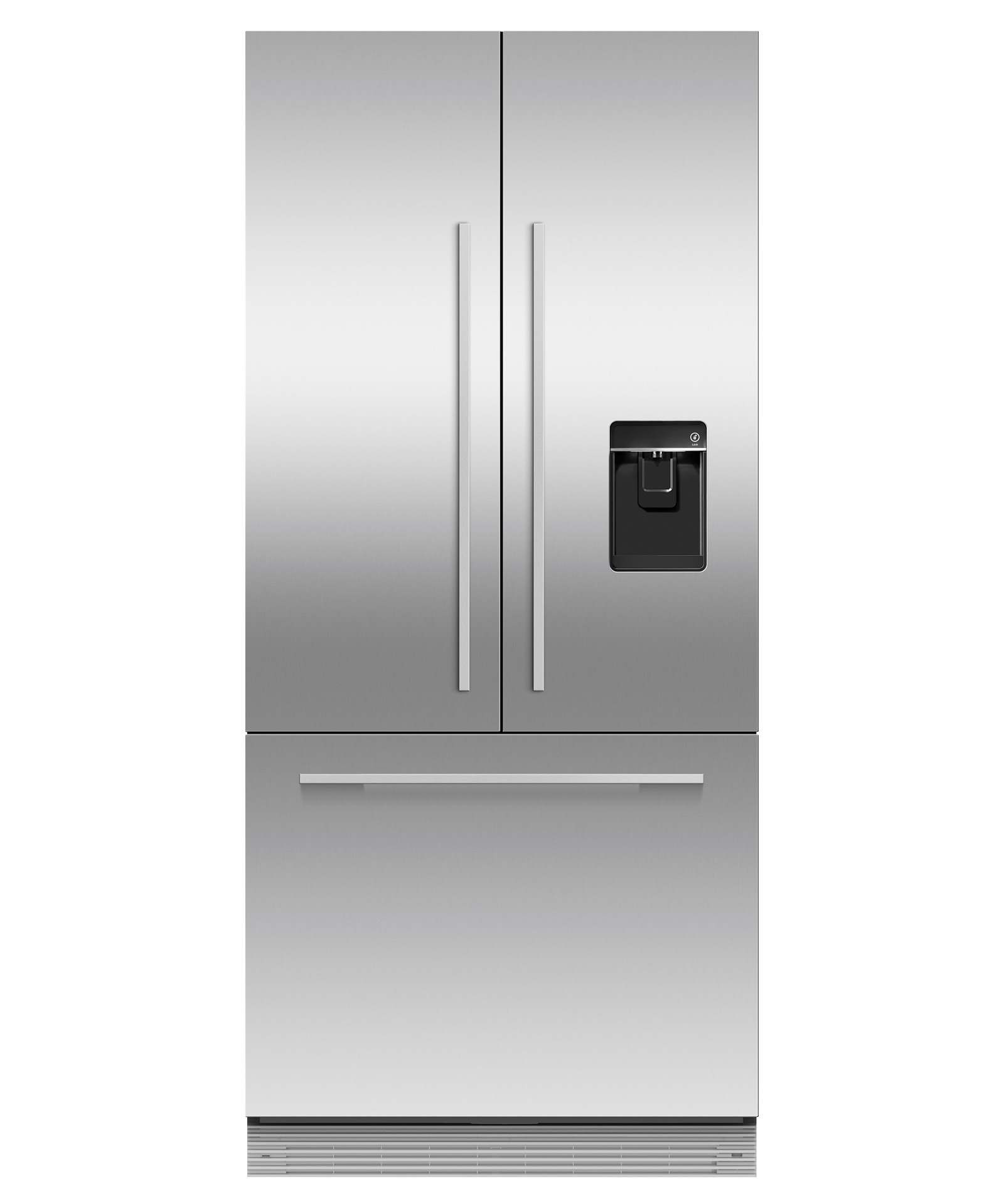 """Fisher and Paykel Integrated French Door Refrigerator Freezer, 32"""", Ice & Water"""
