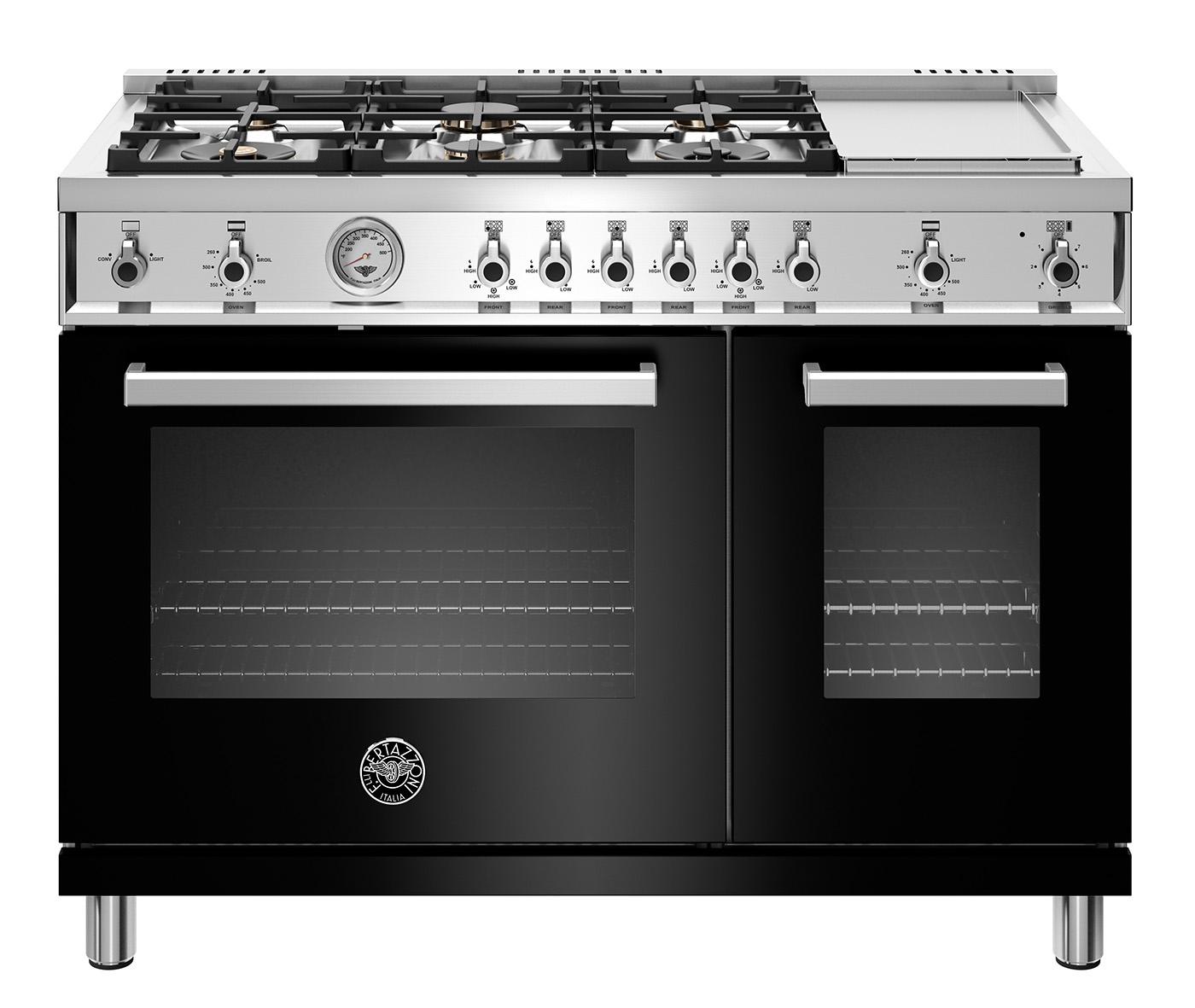 "Model: PROF486GGASNET | Bertazzoni 48"" Professional Series range - Gas Oven - 6 brass burners + griddle"