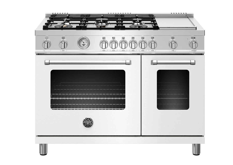 "Model: MAST486GGASBIE | Bertazzoni 48"" Master Series range - Gas Oven - 6 aluminum burners + griddle"