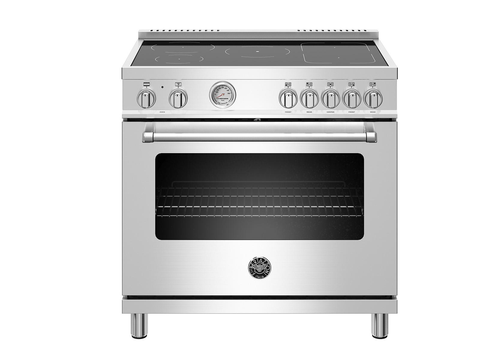 "Model: MAST365INMXE   Bertazzoni 36"" Master Series range - Electric oven - 5 induction zones"