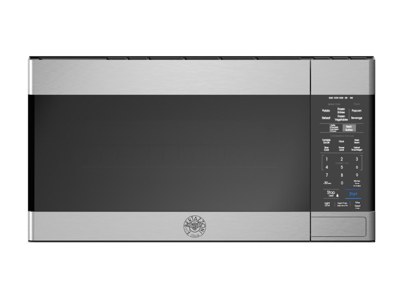 "Bertazzoni 30"" OTR Microwave Hood - 300 CFM - NO HANDLE"