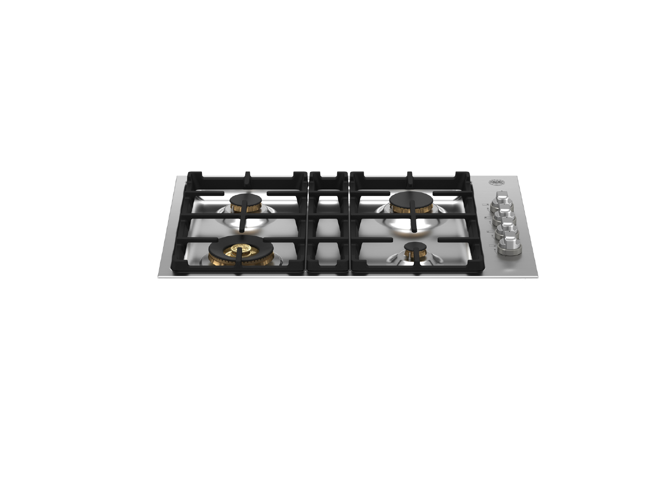 "Bertazzoni 30"" Drop-in Gas Cooktop 4 Brass Burners"