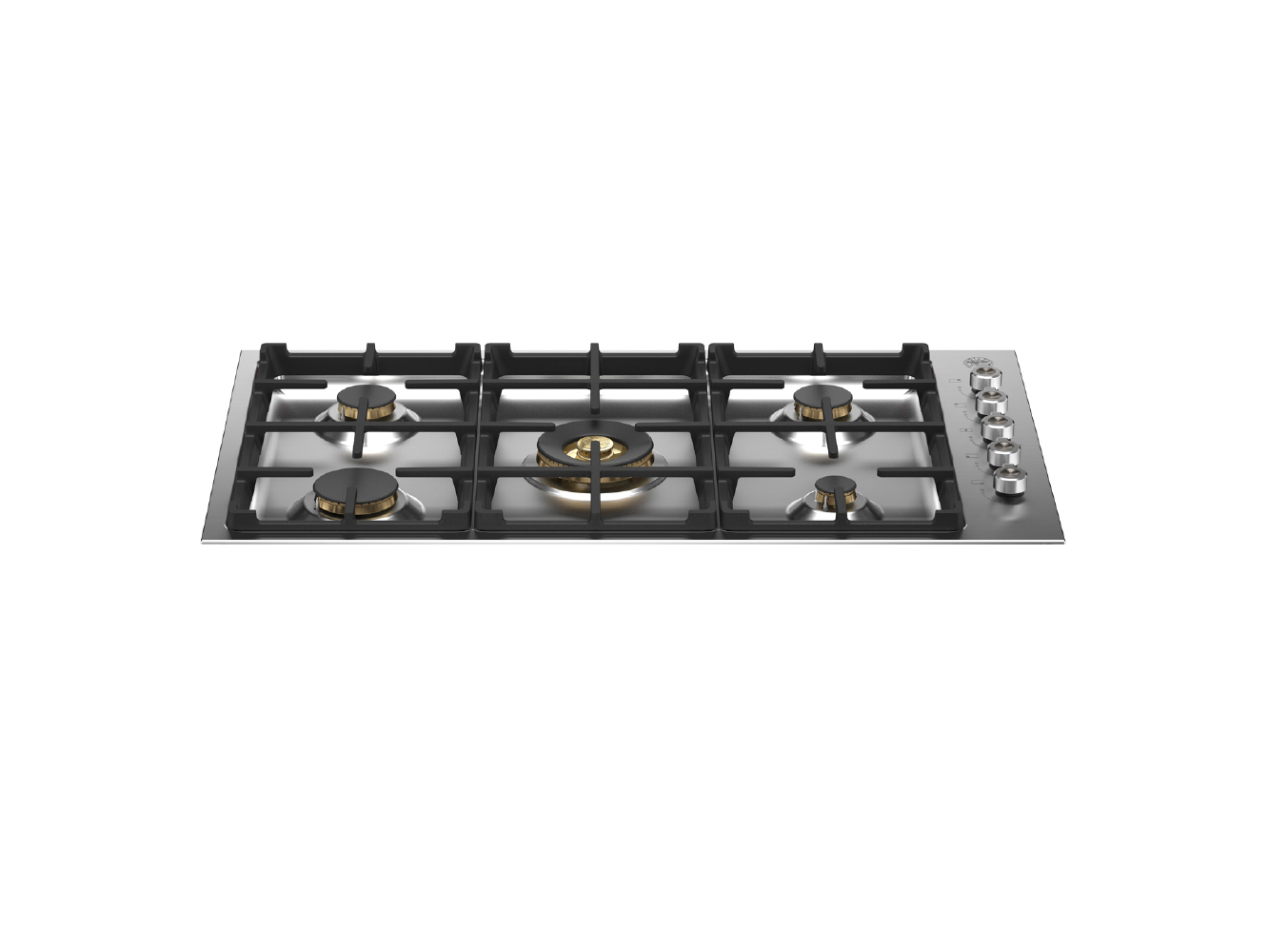 "Bertazzoni 36"" Drop-in Gas Cooktop 5 Brass Burners"