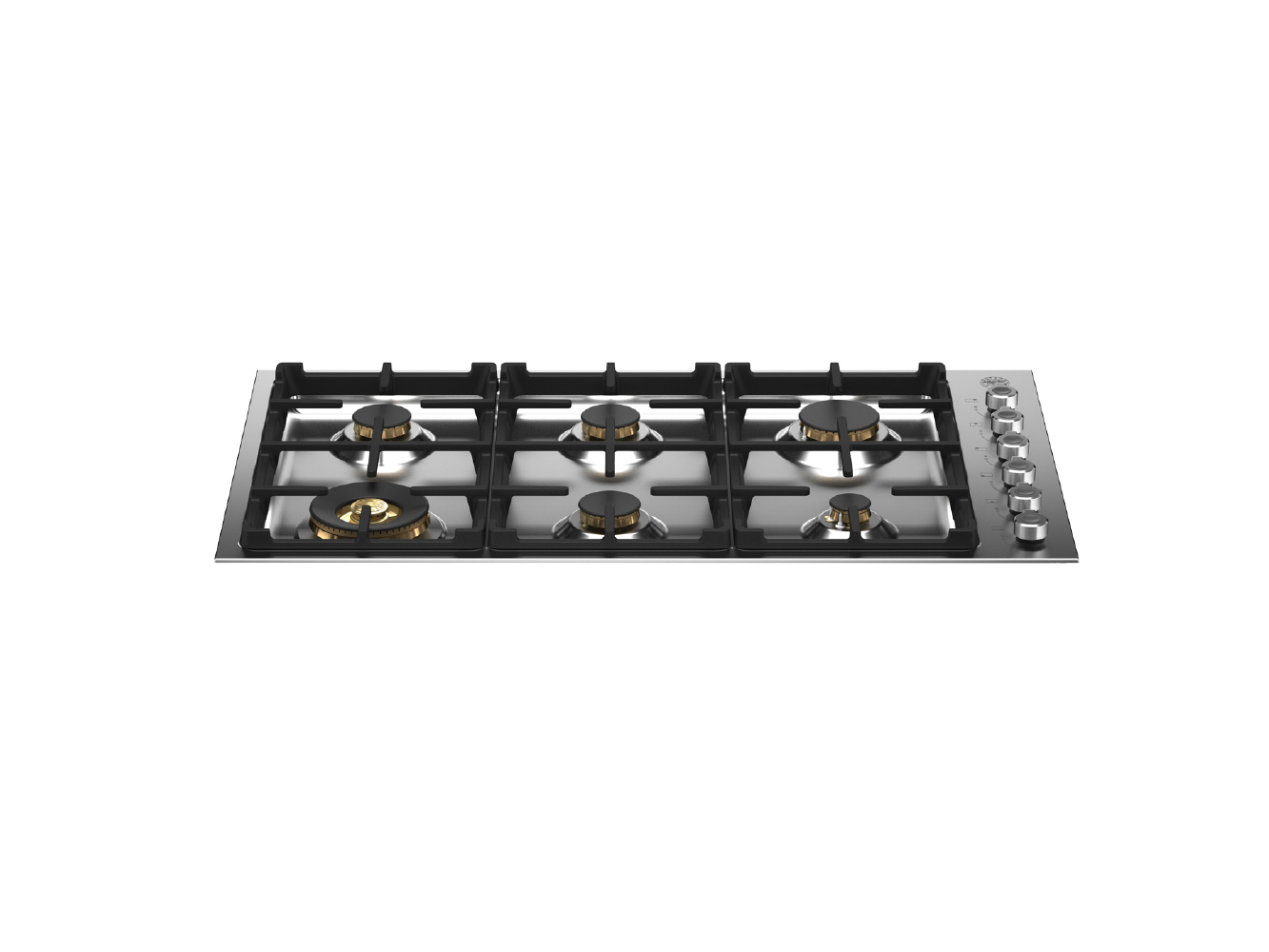 "Bertazzoni 36"" Drop-in Gas Cooktop 6 Brass Burners"